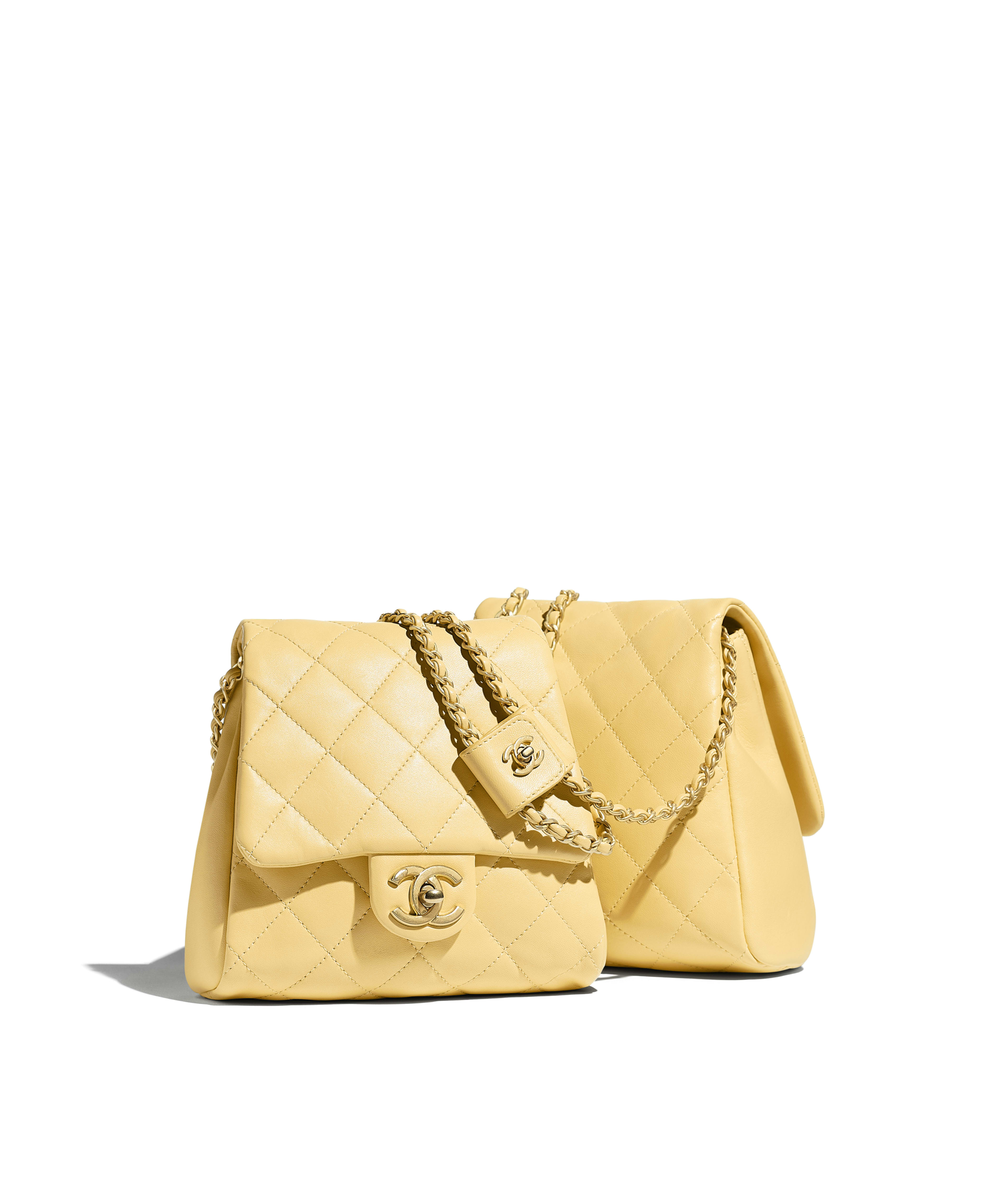 140bf92c0ccf Side-Packs Lambskin & Gold-Tone Metal, Yellow Ref. AS0614B00381N0895