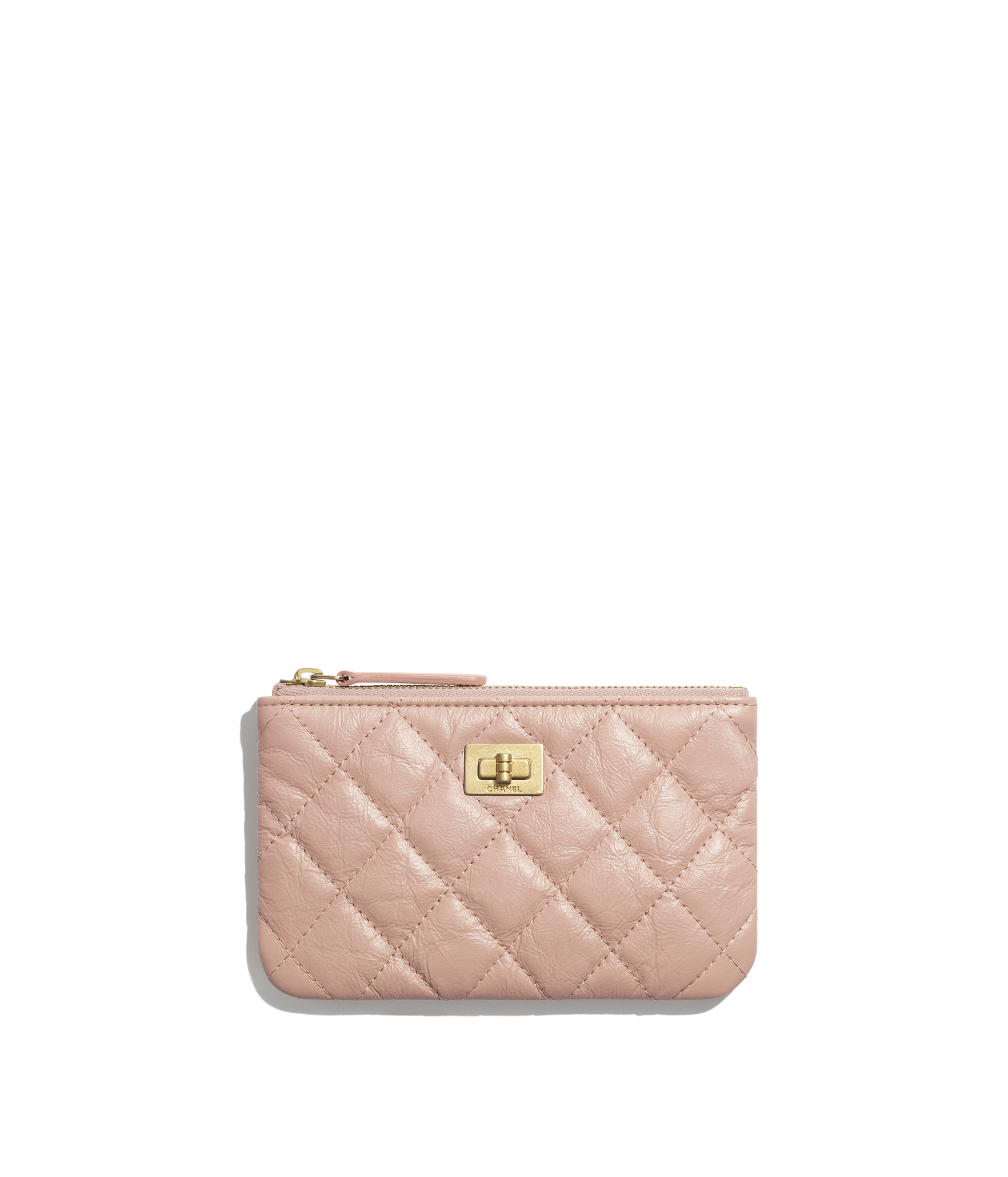 0f34812b1f3f Small 2.55 Pouch Aged Calfskin & Gold-Tone Metal, Light Pink Ref.  A82724Y04634N0430
