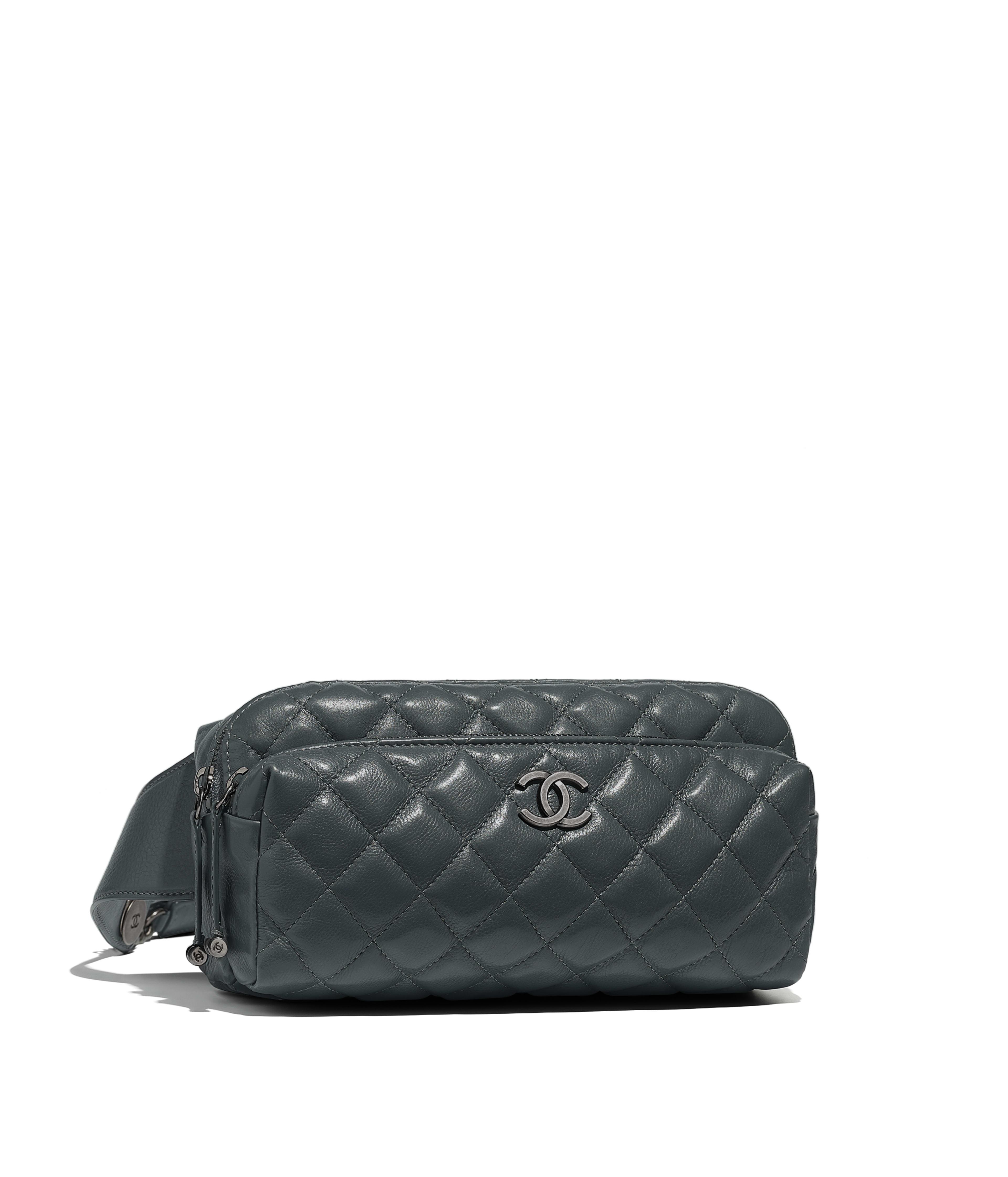 Waist Bag Calfskin Ruthenium Finish Metal Gray Ref A57887y838565b312