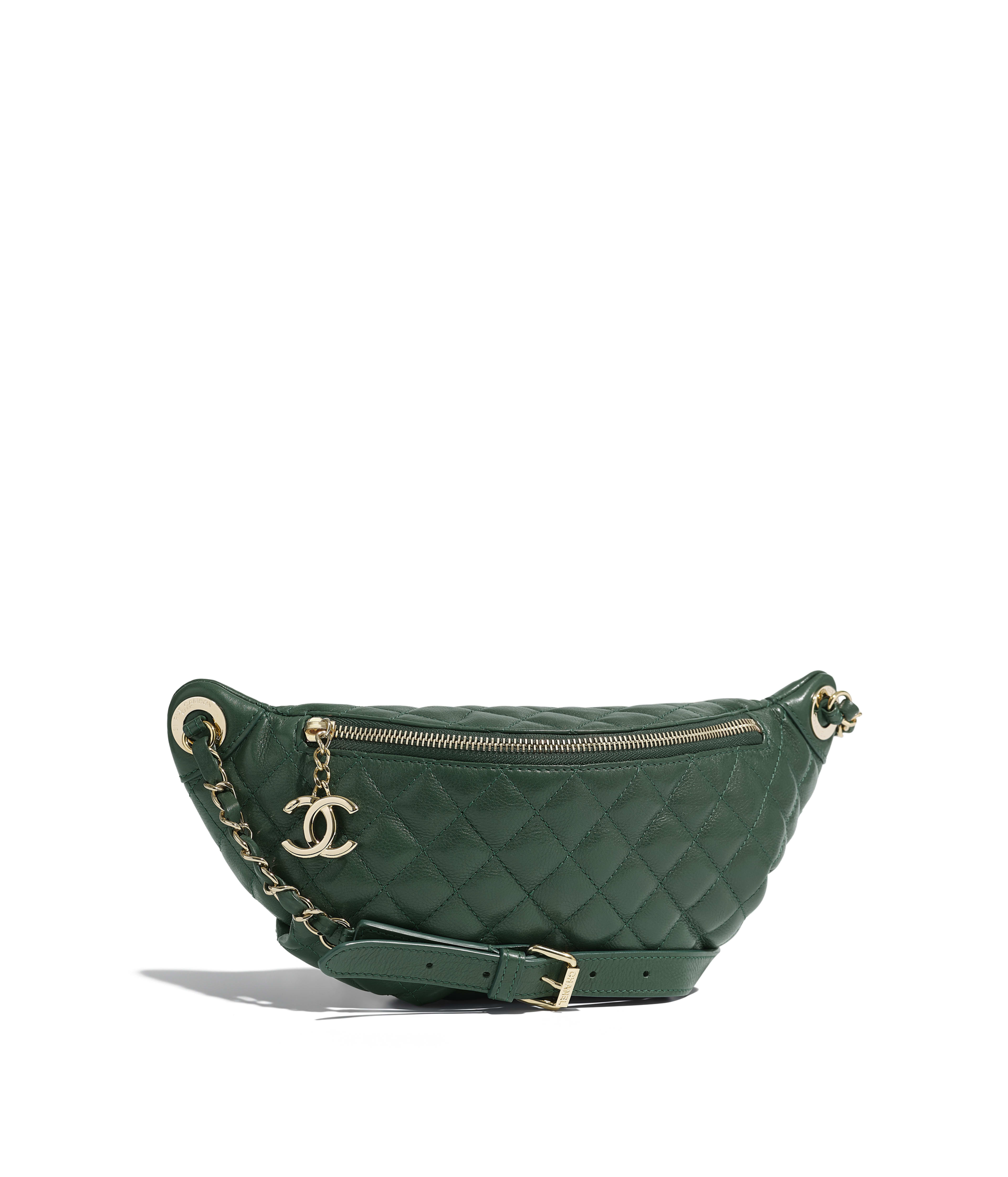 Waist Bag Calfskin Gold Tone Metal Green Ref A57929y839575b536