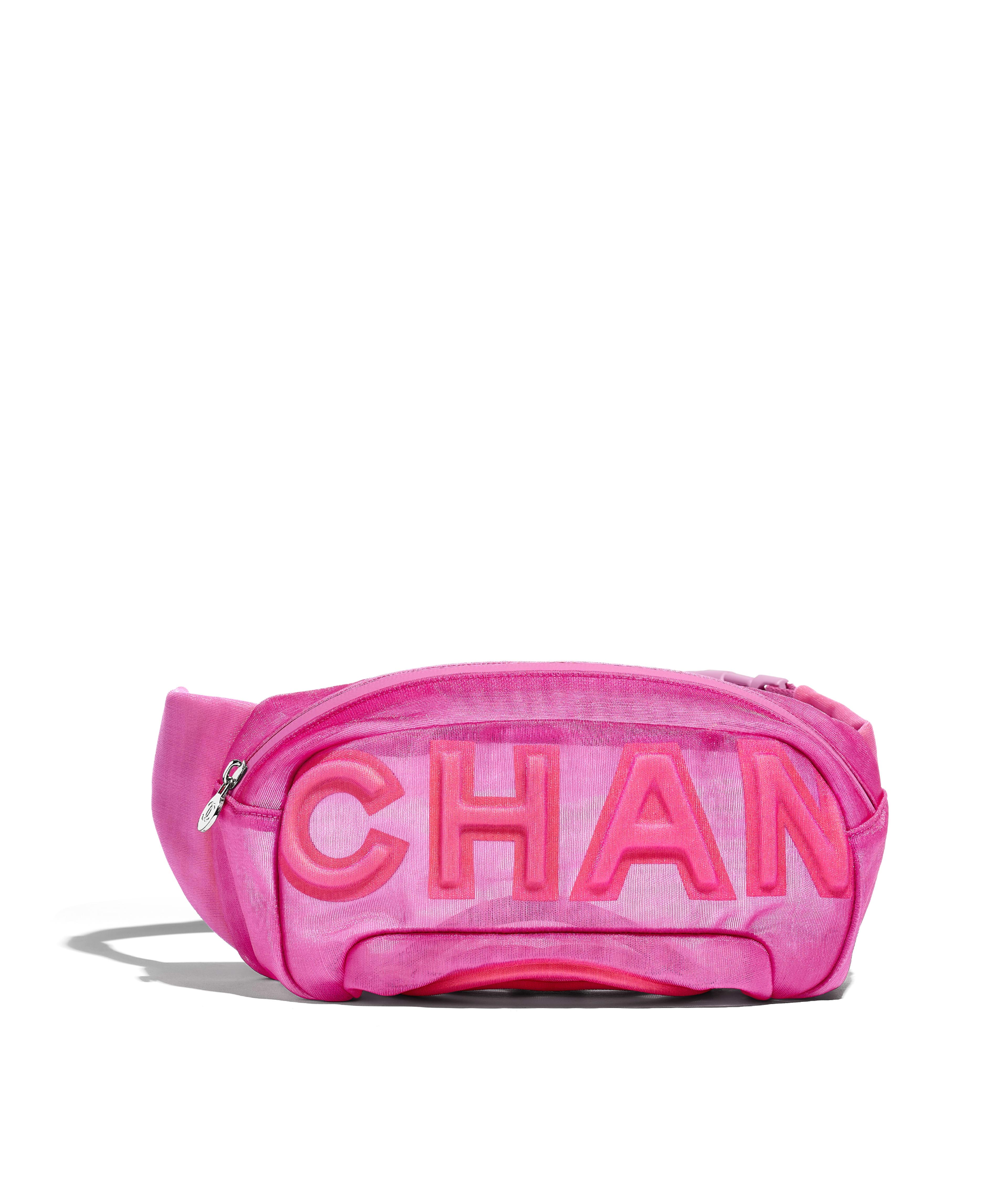 120d53dfbd2f80 Waist Bag Nylon & Silver-Tone Metal, Pink Ref. AS0425B00165N0799