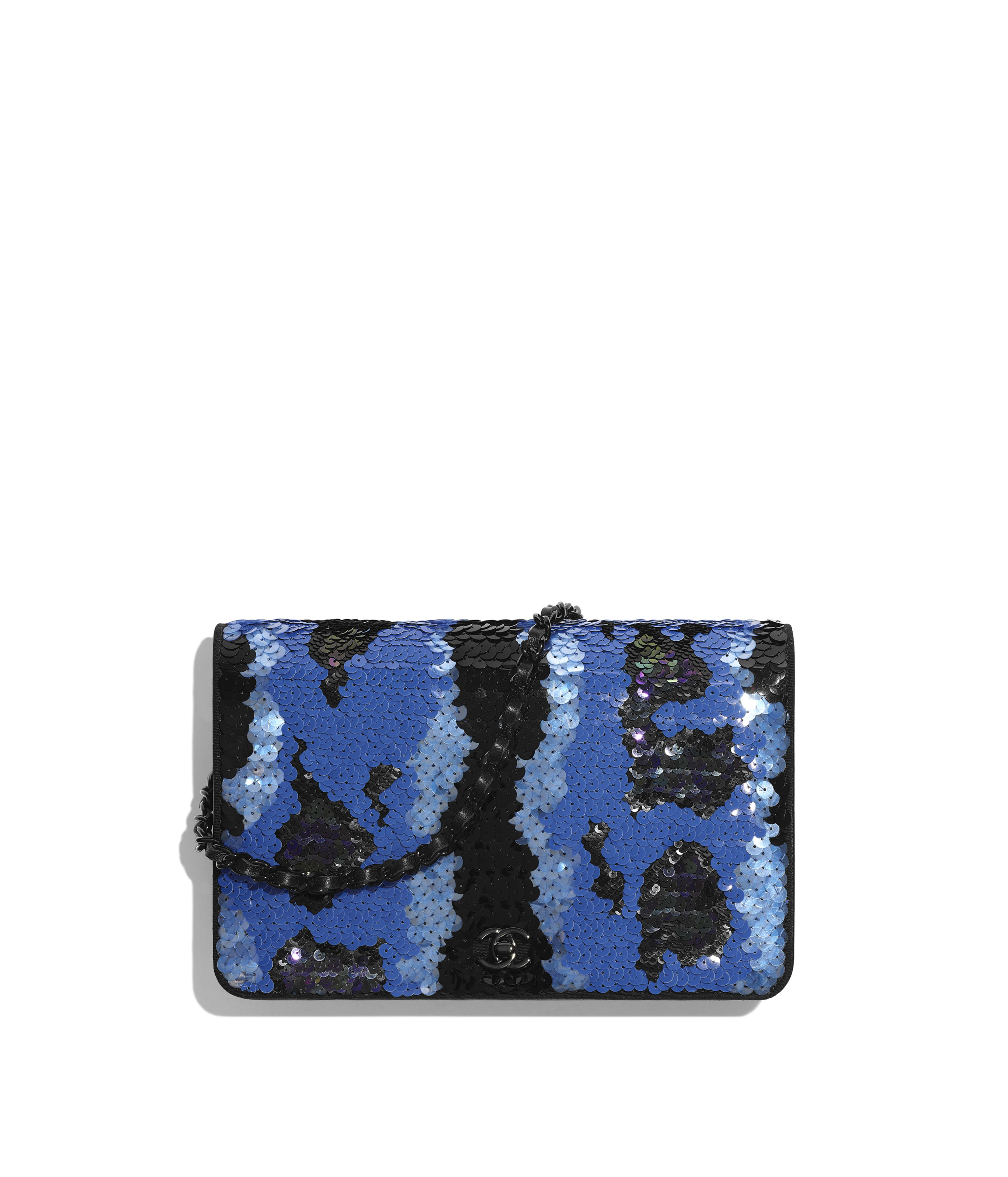 cd81af79536b Wallet on Chain Sequins & Black Metal, Blue & Black Ref. A84423B00644N0651