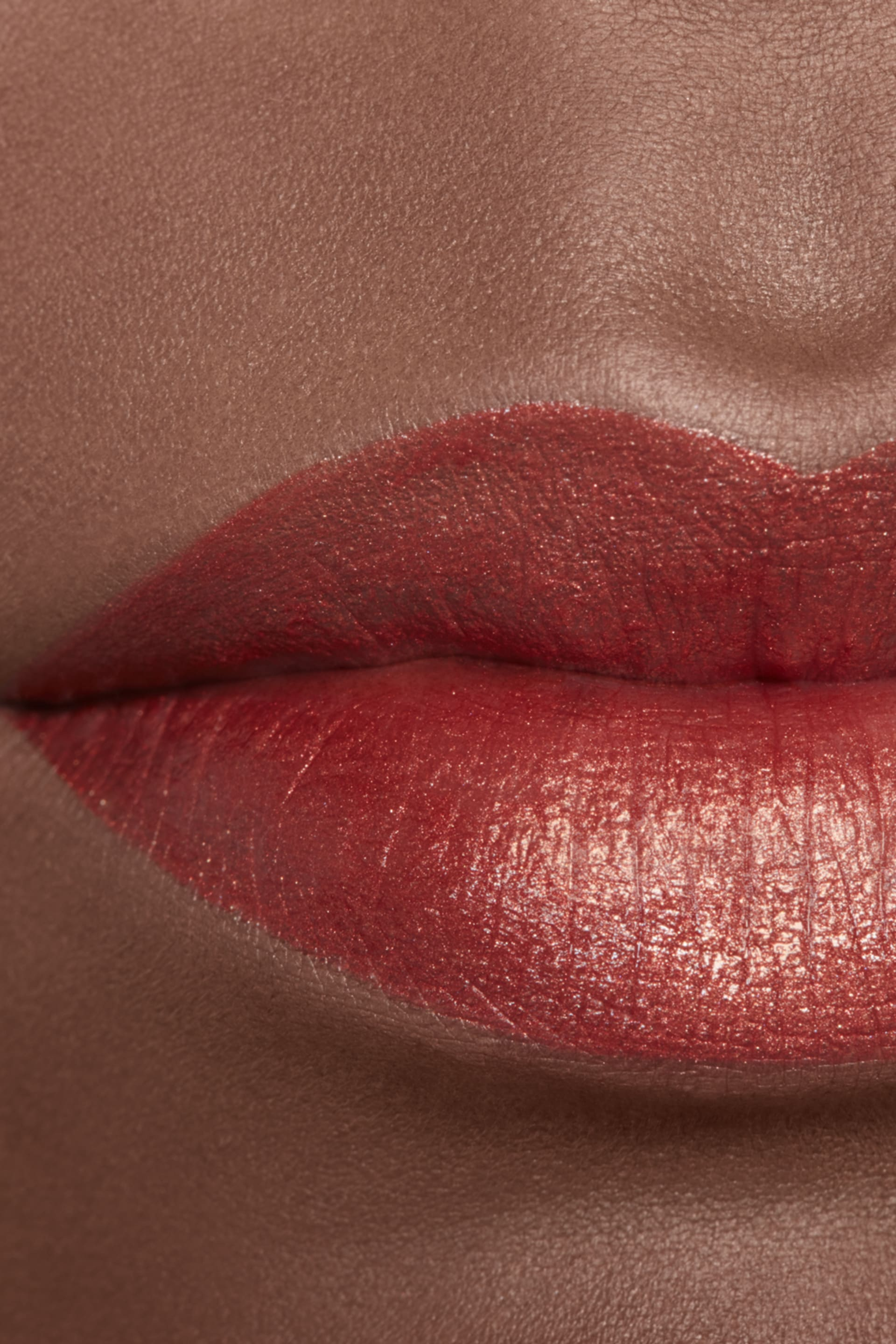 Application makeup visual 2 - ROUGE ALLURE INK 206 - METALLIC COPPER