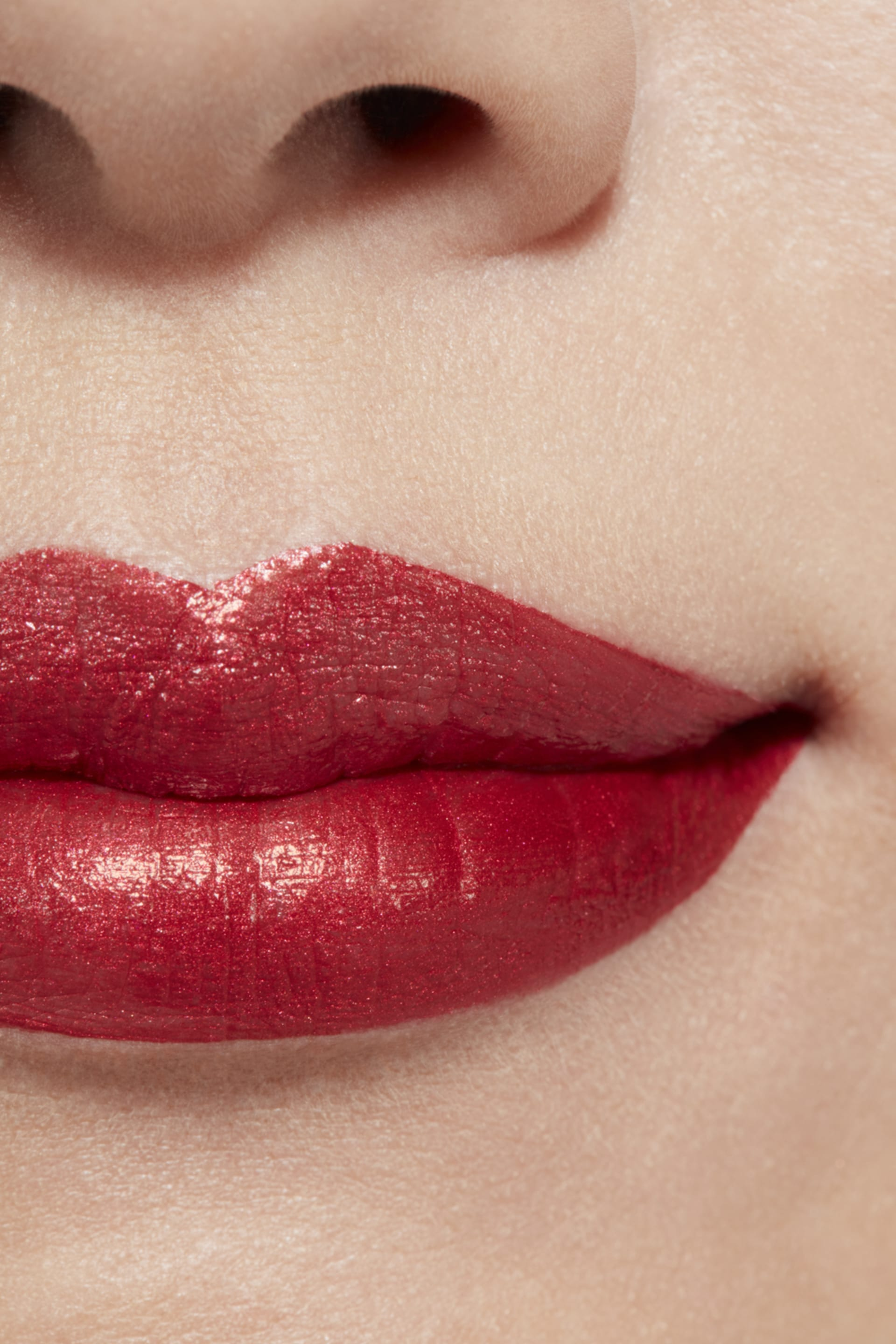 Application makeup visual 1 - ROUGE ALLURE INK 208 - METALLIC RED