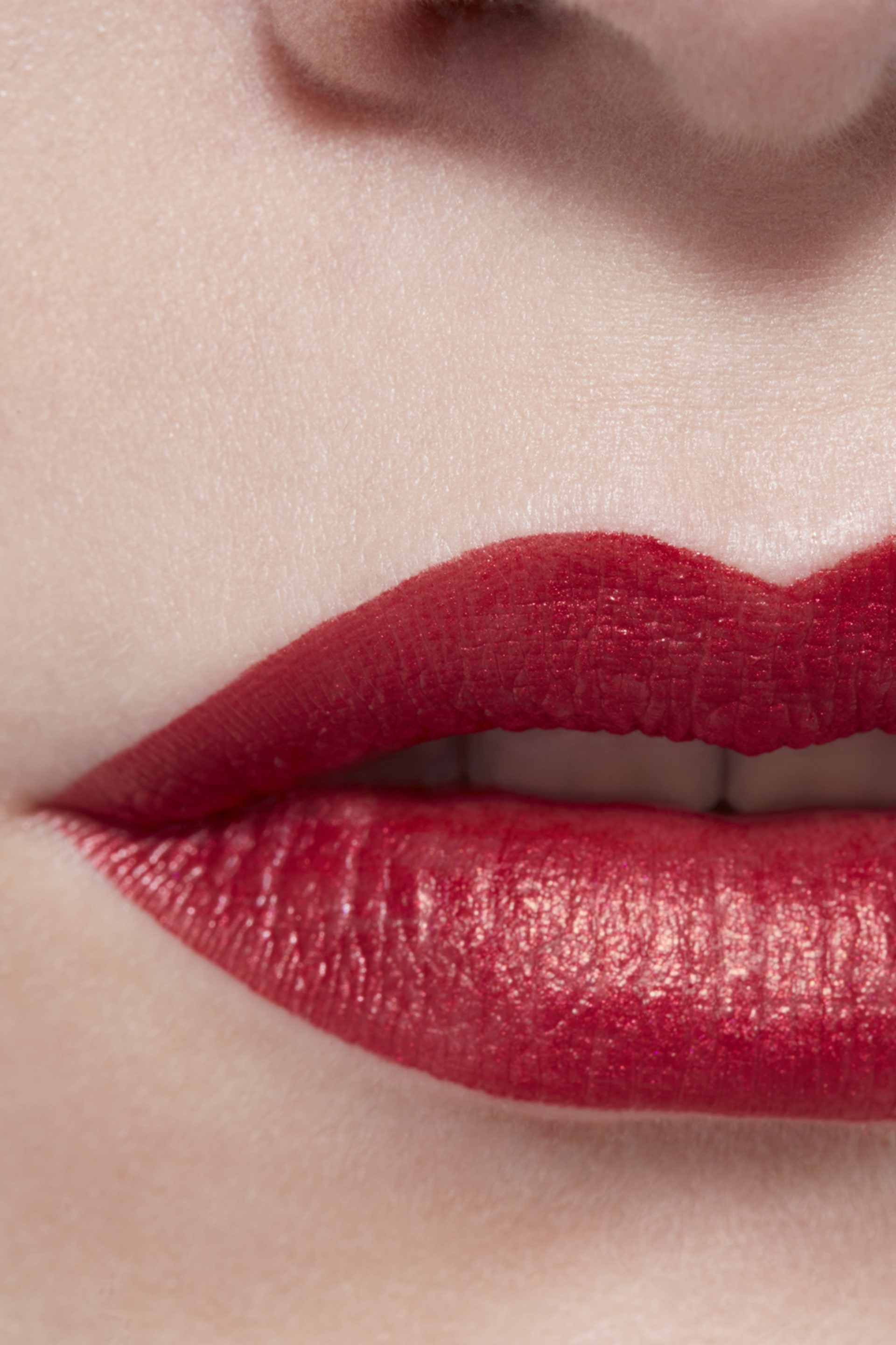 Application makeup visual 3 - ROUGE ALLURE INK 208 - METALLIC RED