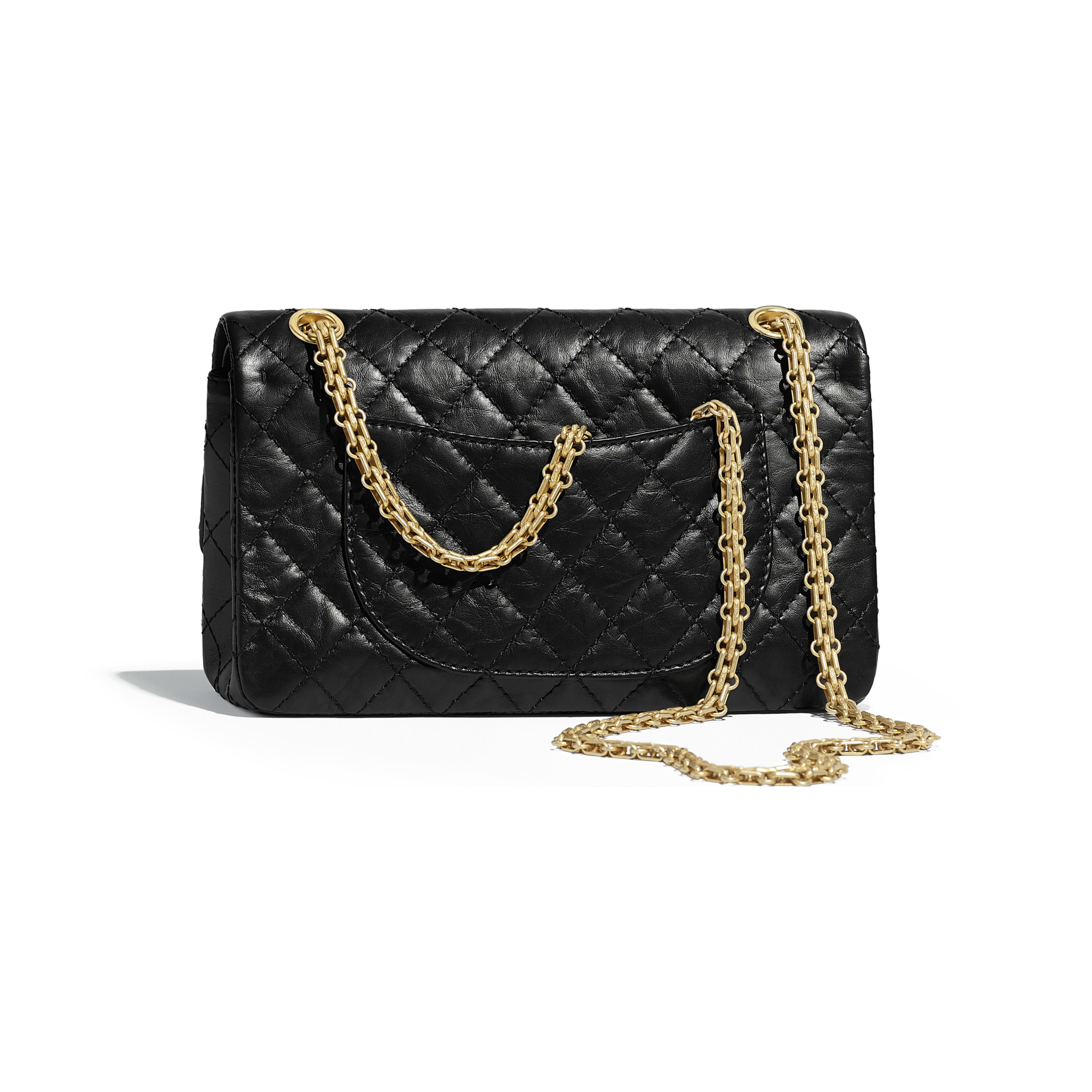2.55 Handbag - Black - Aged Calfskin, Charms & Gold-Tone Metal - Alternative view - see full sized version