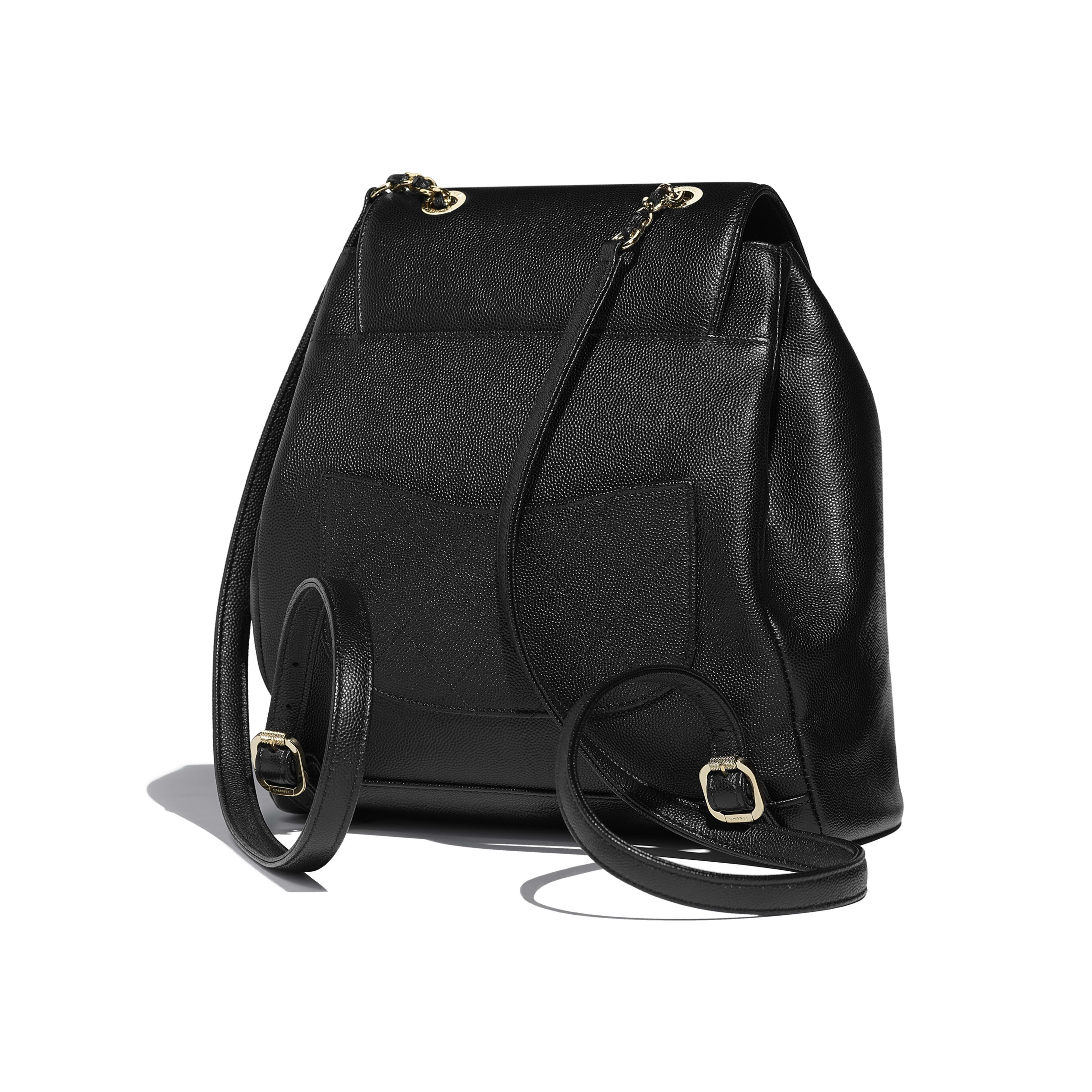 Black Leather Backpack Gold- Fenix Toulouse Handball 4aa6d3b528244