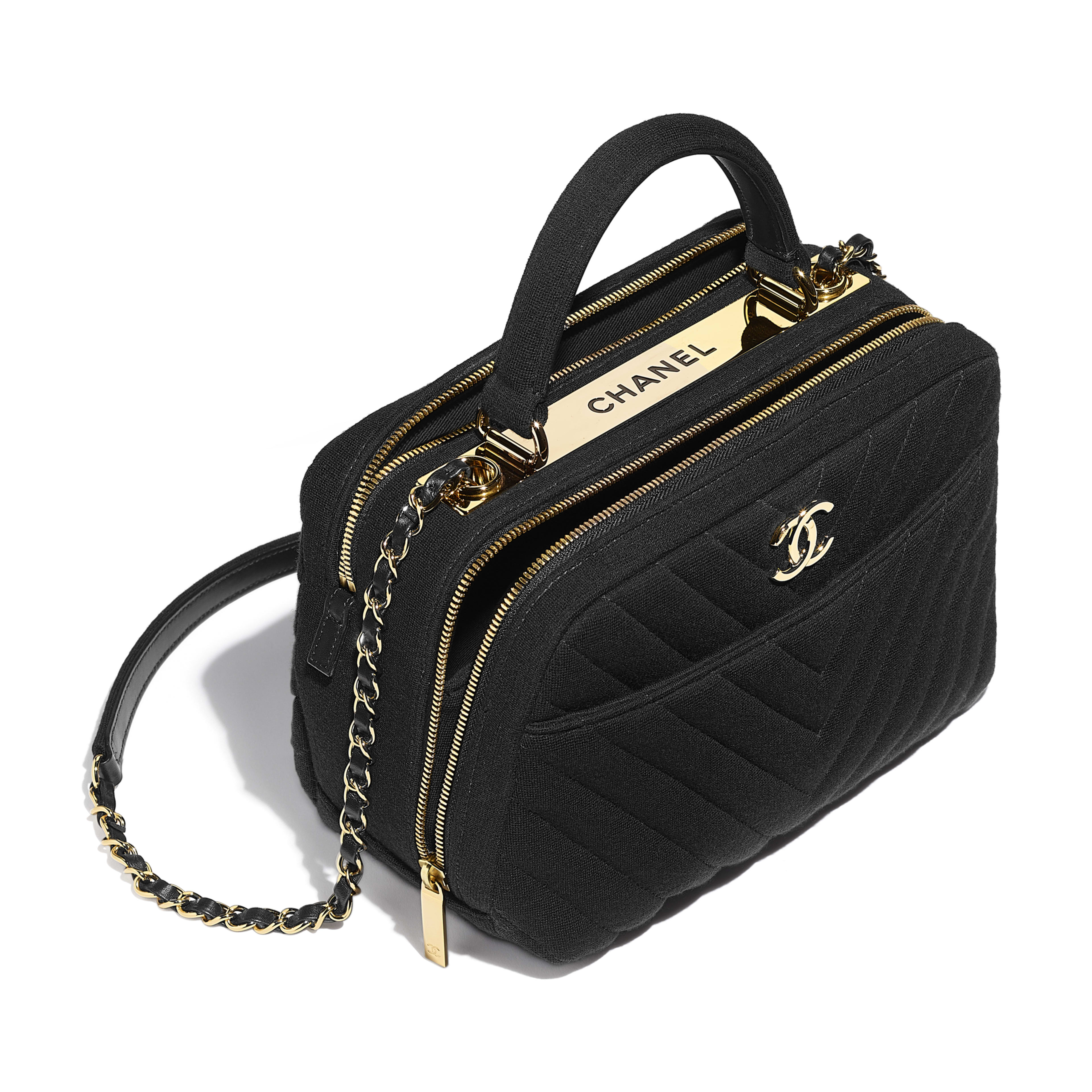 Bowling Bag - Black - Jersey   Gold-Tone Metal - Other view - see ... 918137796d