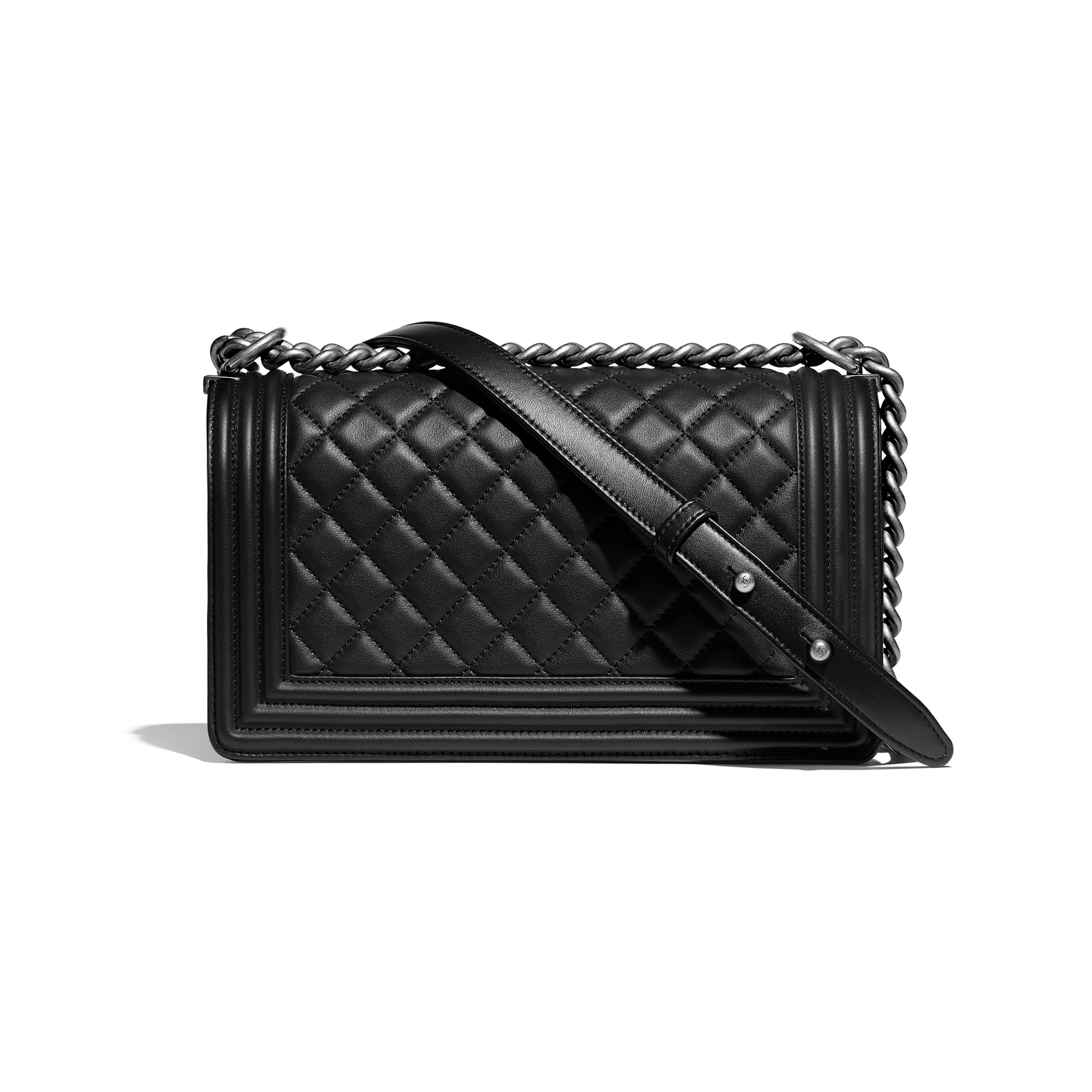 dbf0a9e18e7d Boy Chanel Handbag Calfskin & Ruthenium-finish Metal | Stanford ...