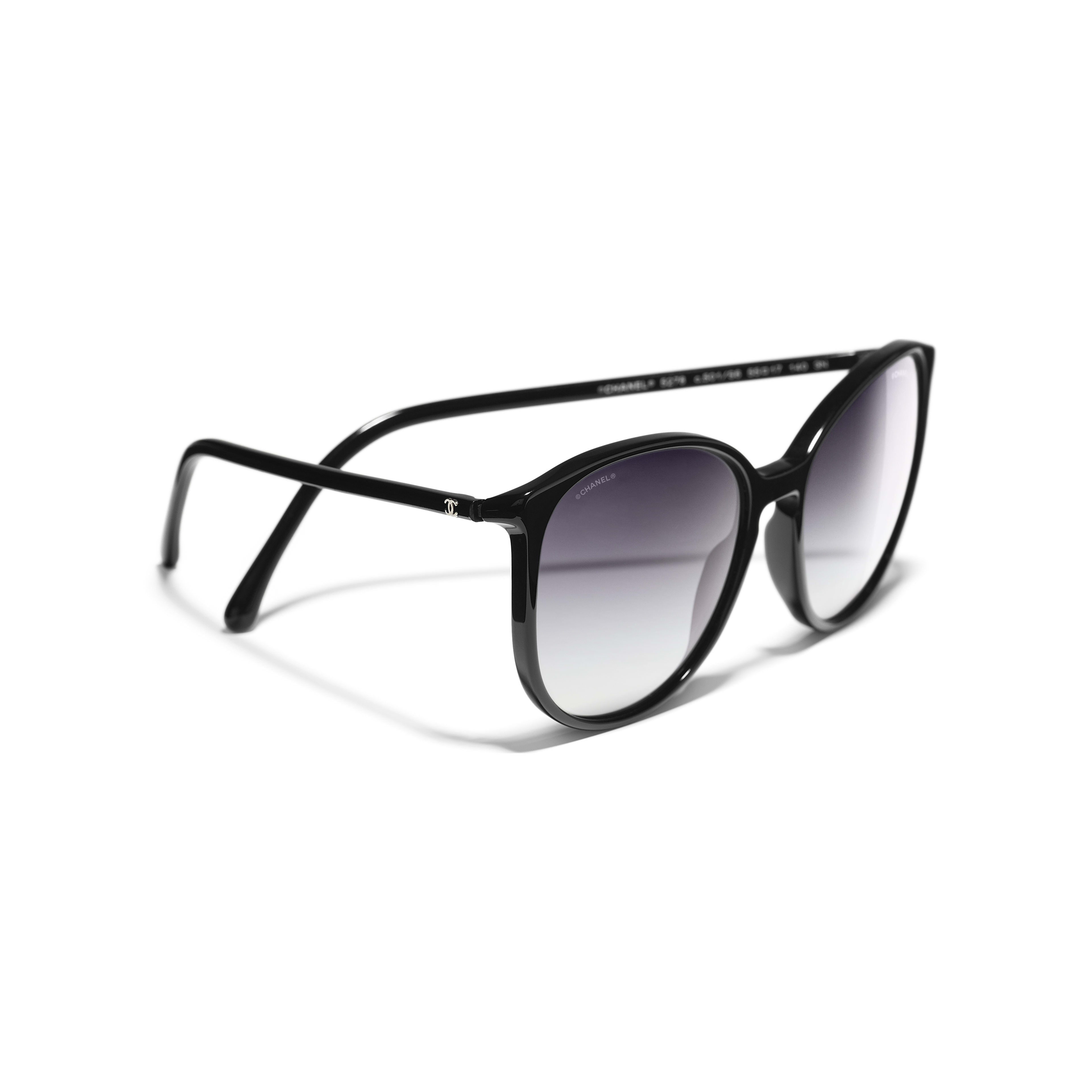 Butterfly Sunglasses Acetate Black -                                                               view 1 - see full sized version
