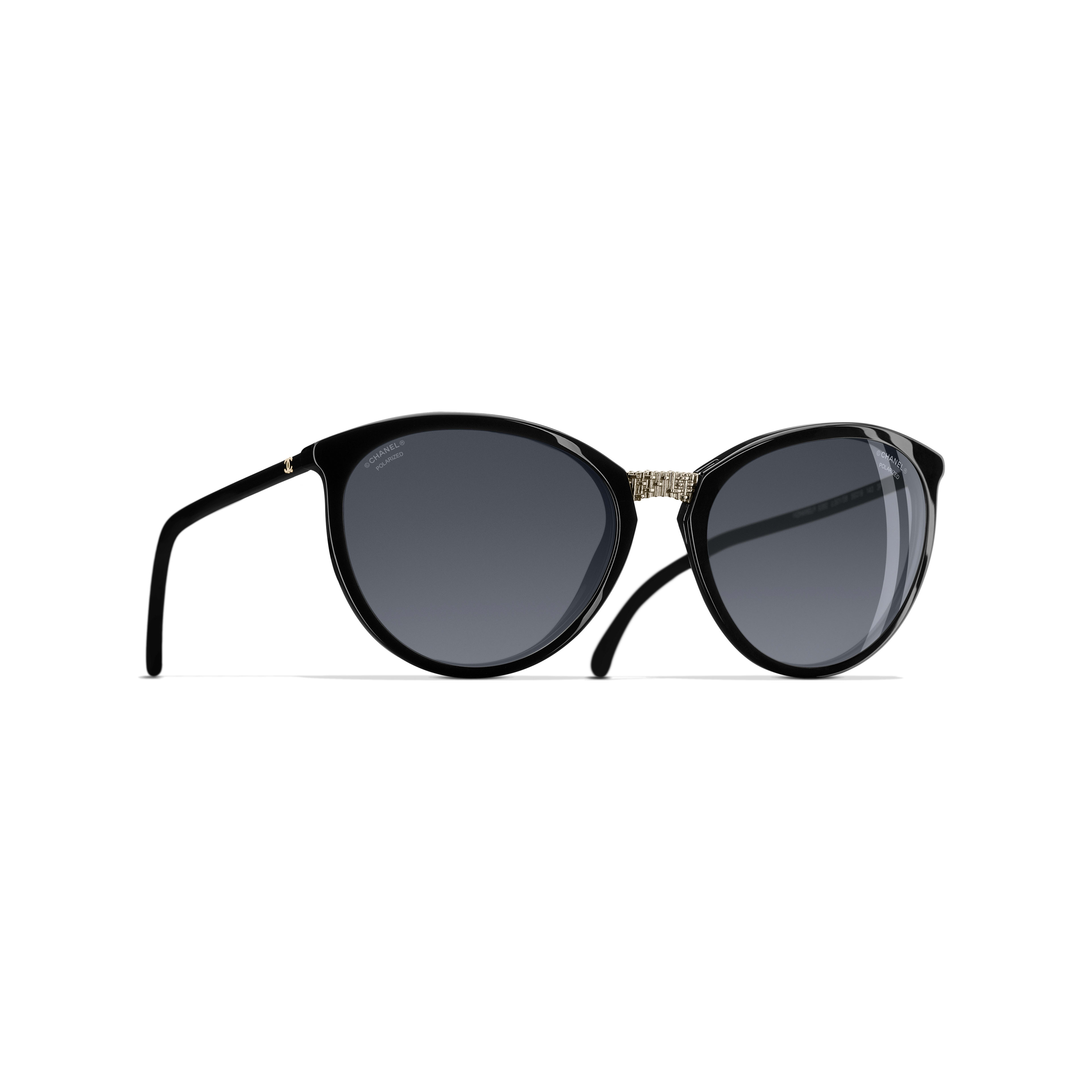 Butterfly Sunglasses Acetate - Polarized Lenses Black -                                               view 1 - see full sized version