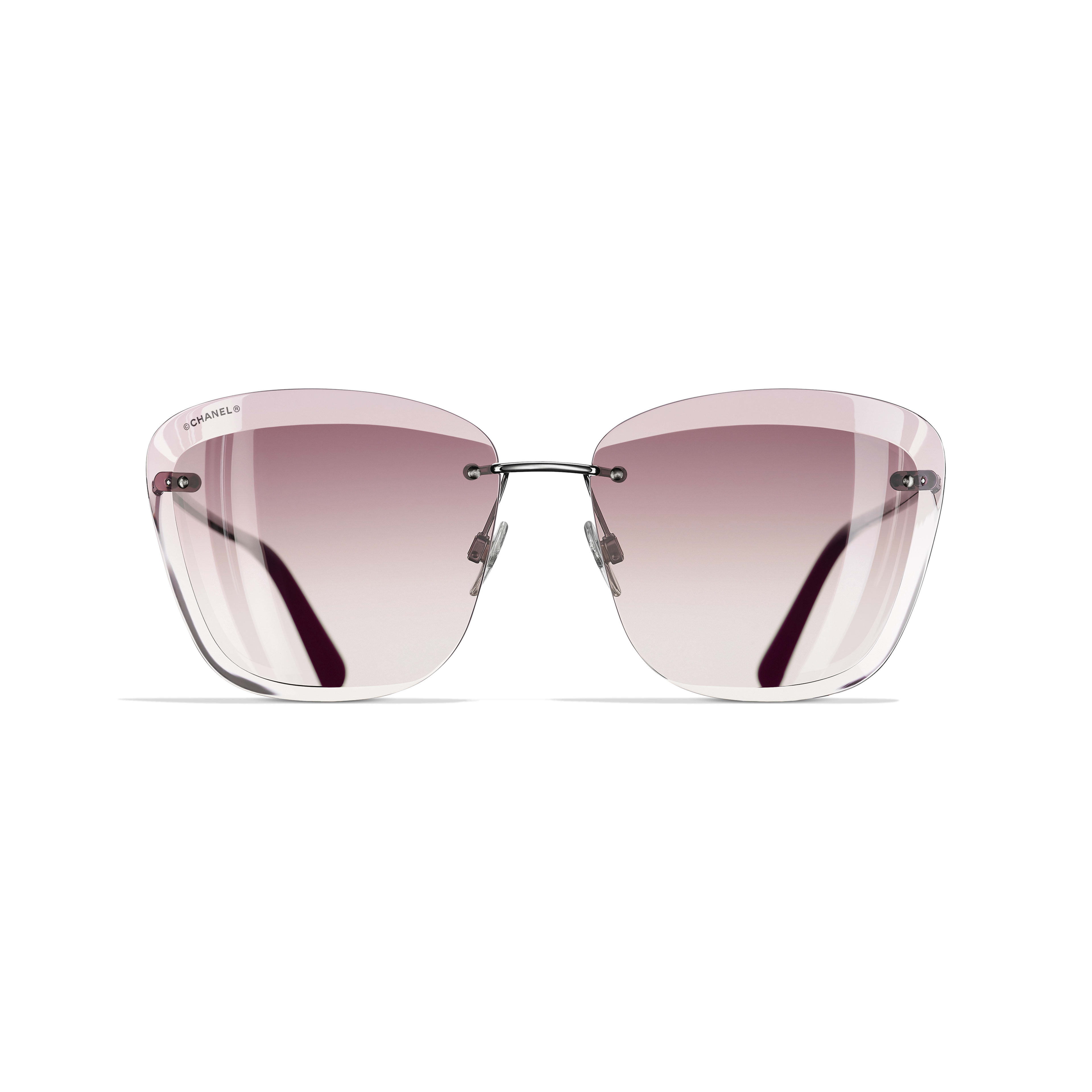 Butterfly Sunglasses Metal Silver & Pink -                                                    view 2 - see full sized version