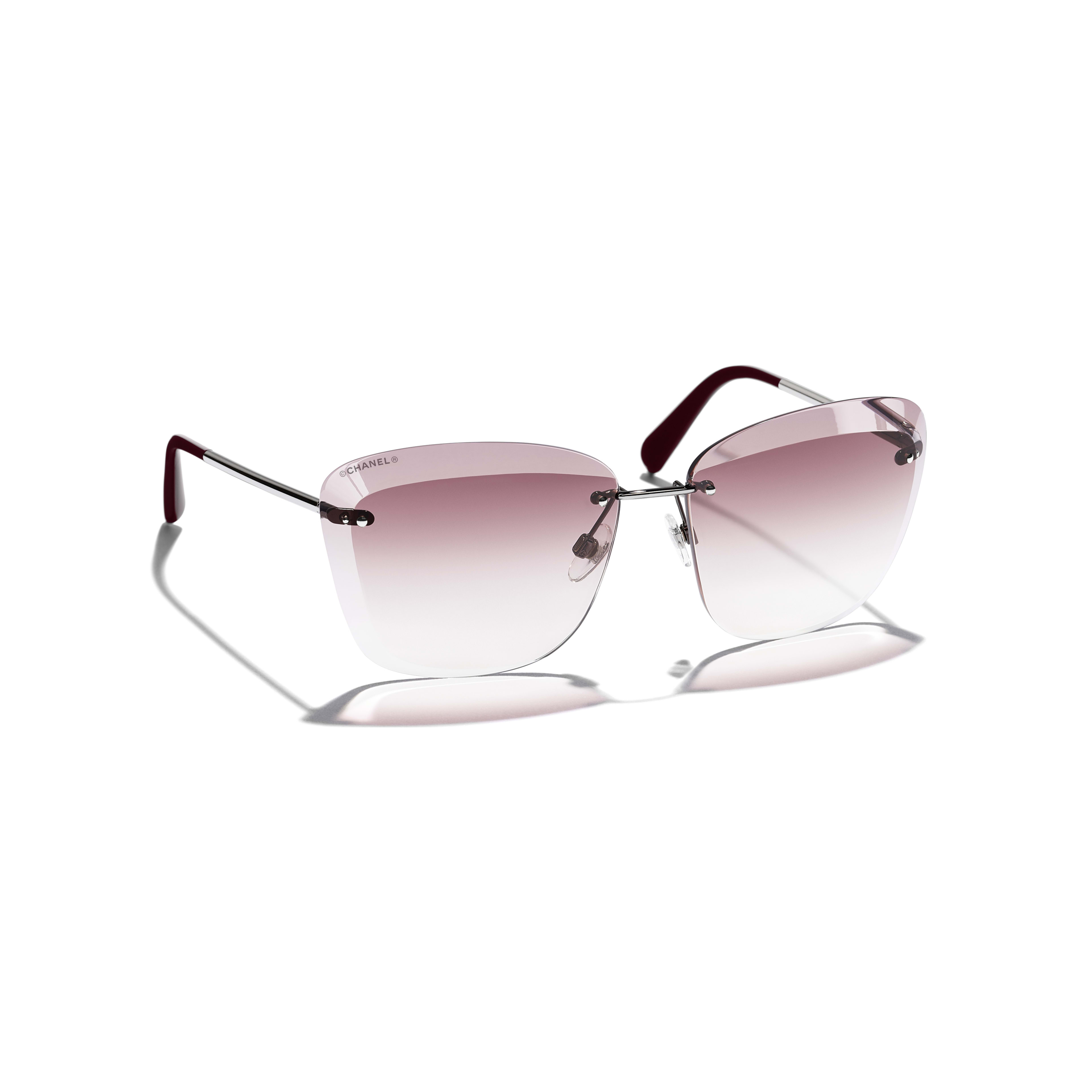 Butterfly Sunglasses Metal Silver & Pink -                                                               view 1 - see full sized version