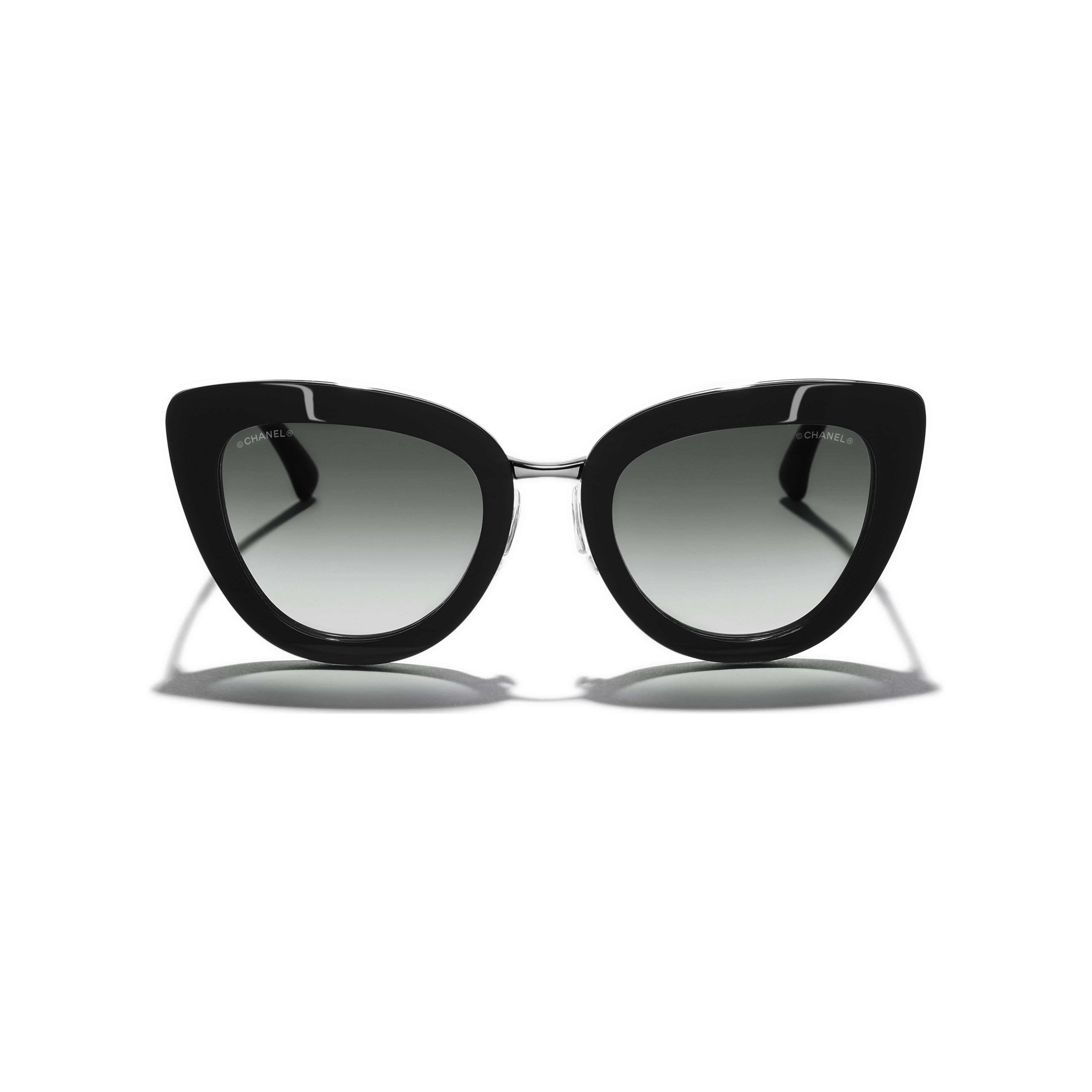 Cat Eye Sunglasses Acetate & Metal Black -                                                               view 1 - see full sized version