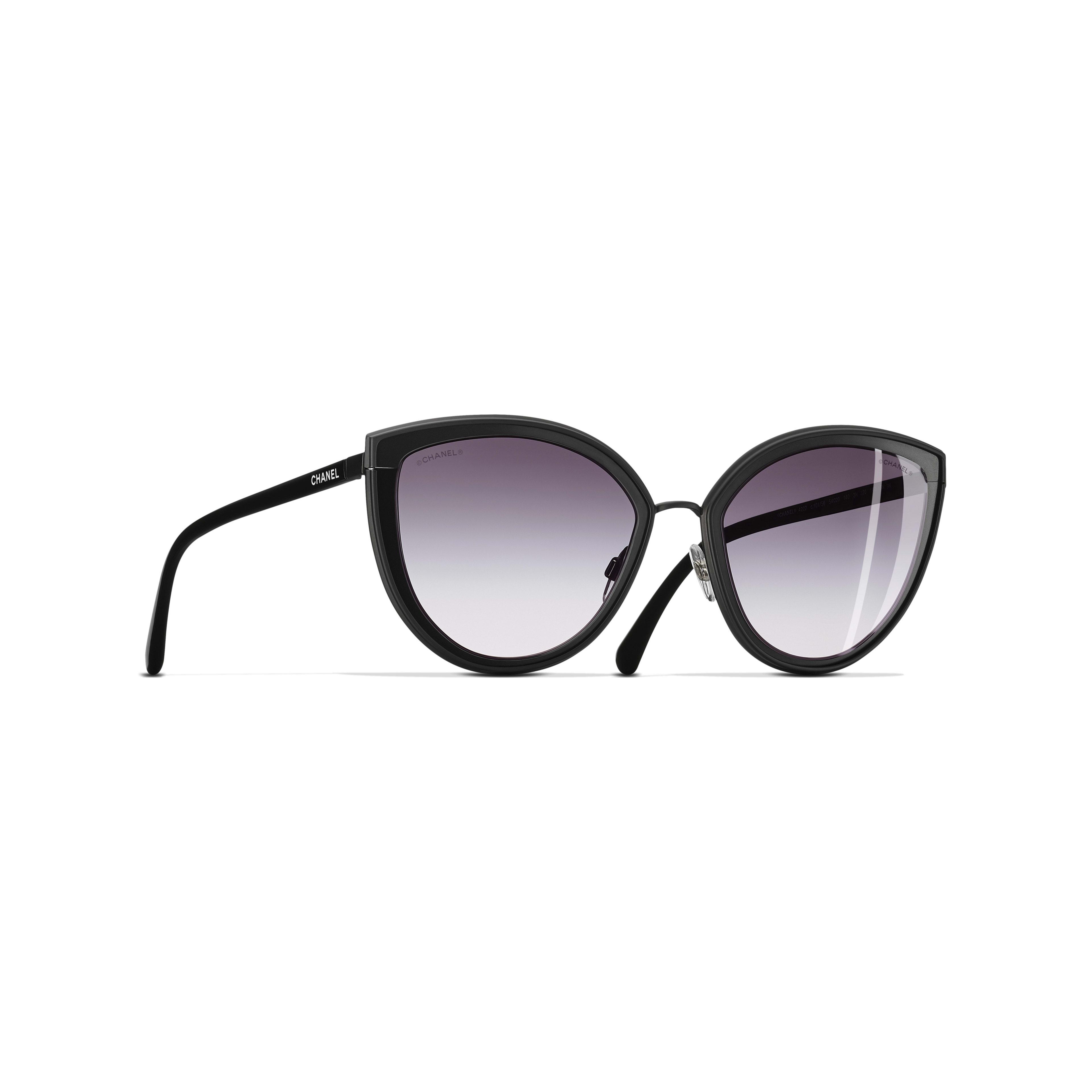 Cat Eye Sunglasses Metal Black -                                               view 1 - see full sized version