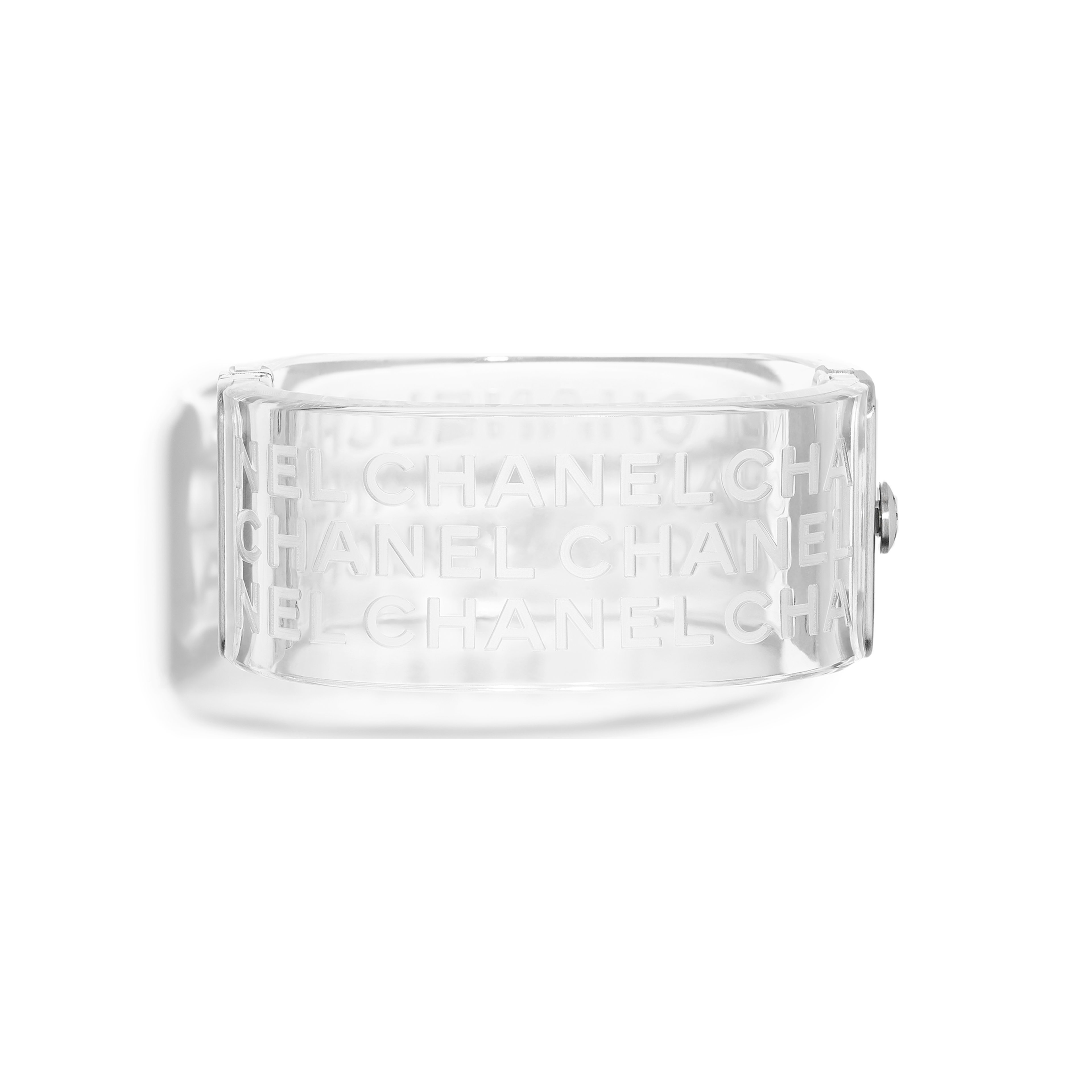Cuff Metal & Resin Silver & Transparent -                                  view 1 - see full sized version