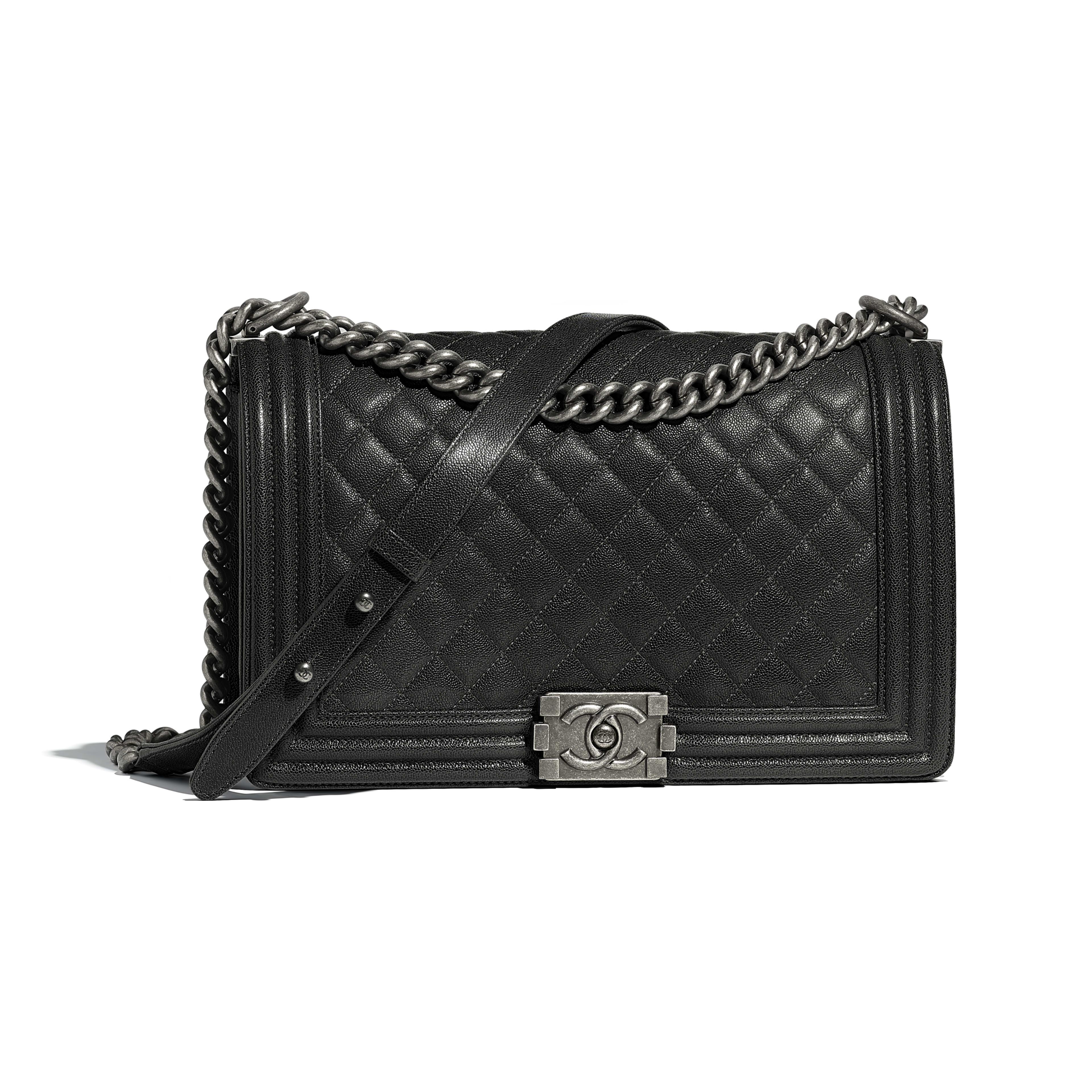 53cd8c3d227f Chanel Boy Chanel Handbag Calfskin & Ruthenium-finish Metal ...