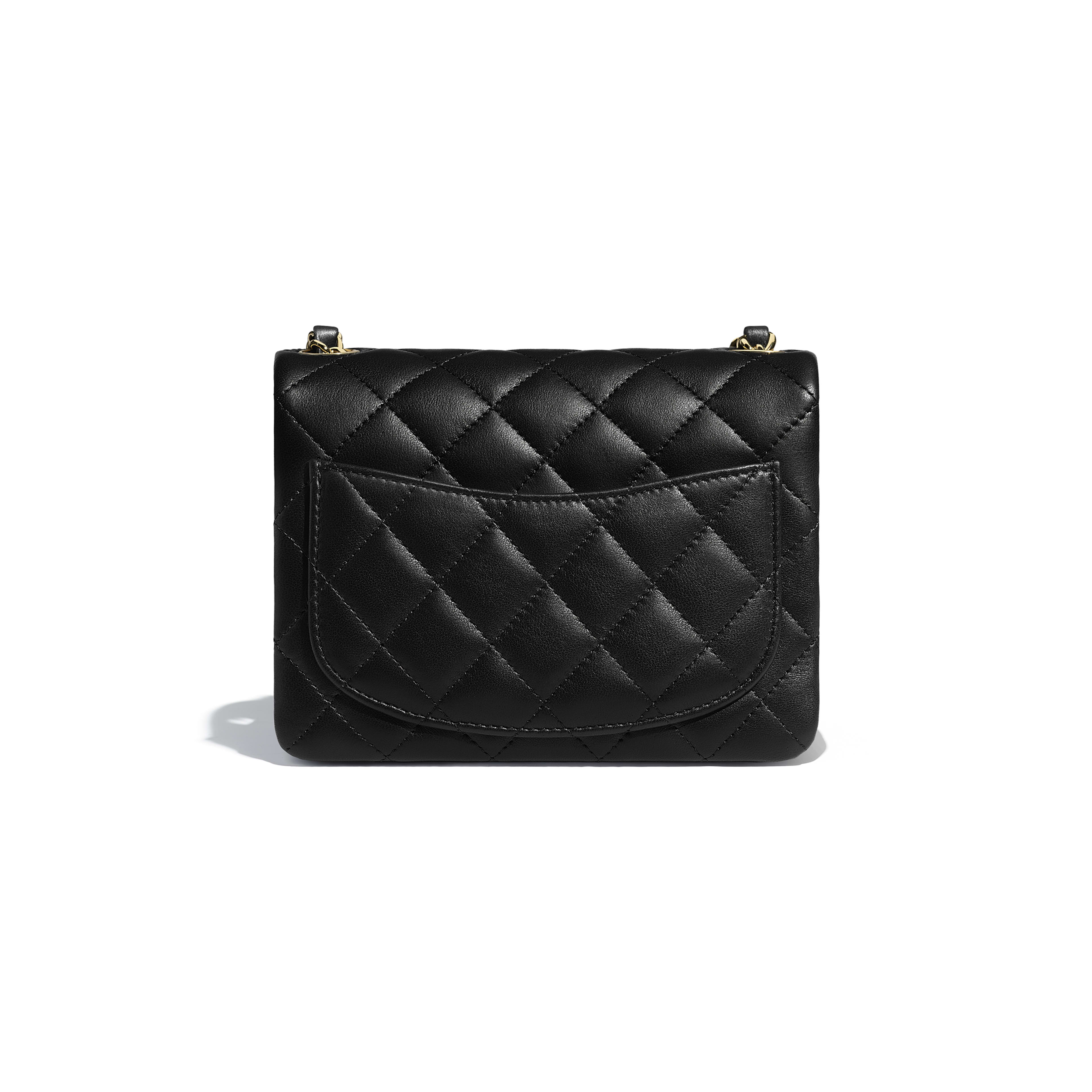a7c2e115e7647f Chanel Flap Bag Lambskin And Gold Tone Metal Black | Stanford Center ...
