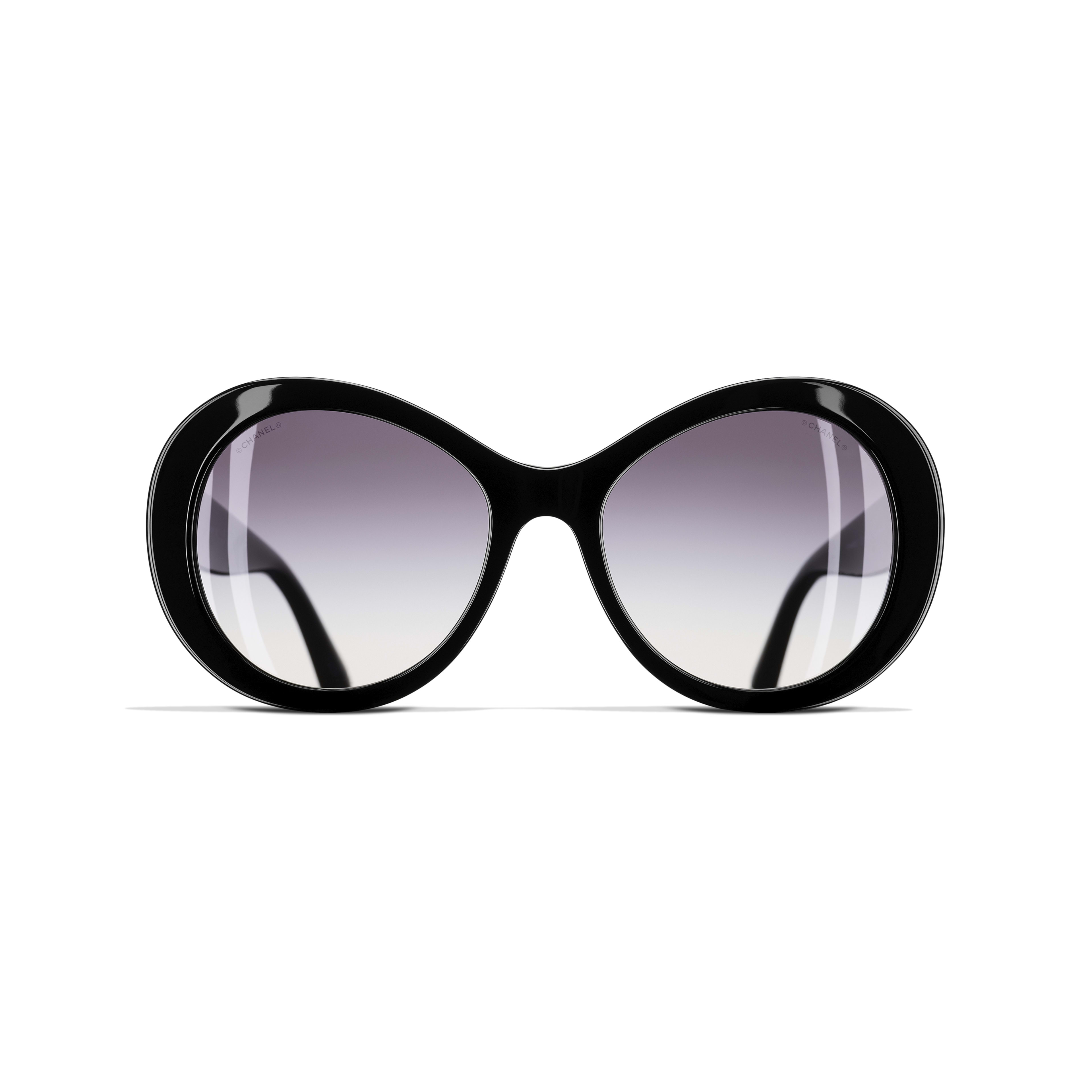 Oval Sunglasses Acetate Black -                                                    view 2 - see full sized version