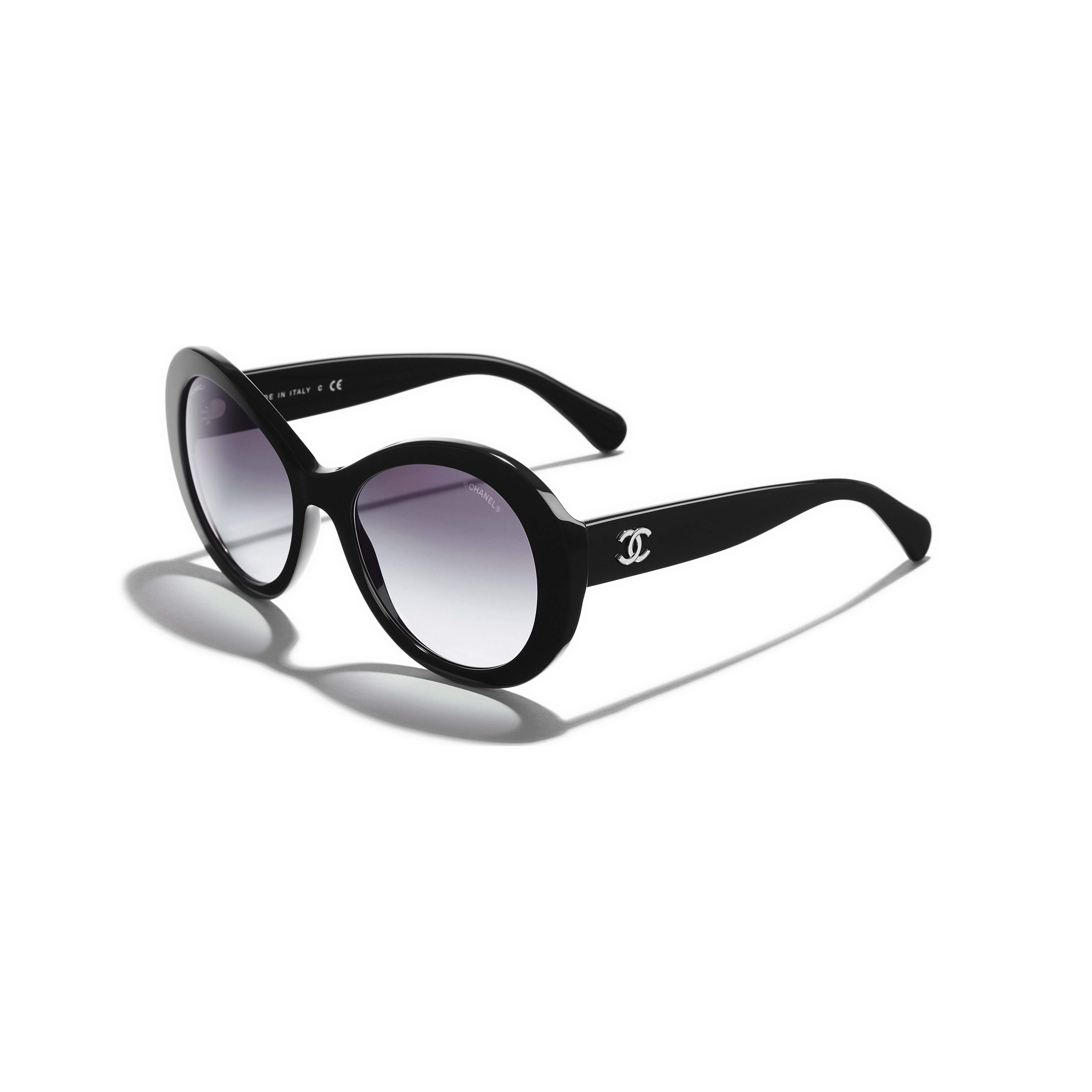 Oval Sunglasses Acetate Black -                                                               view 1 - see full sized version