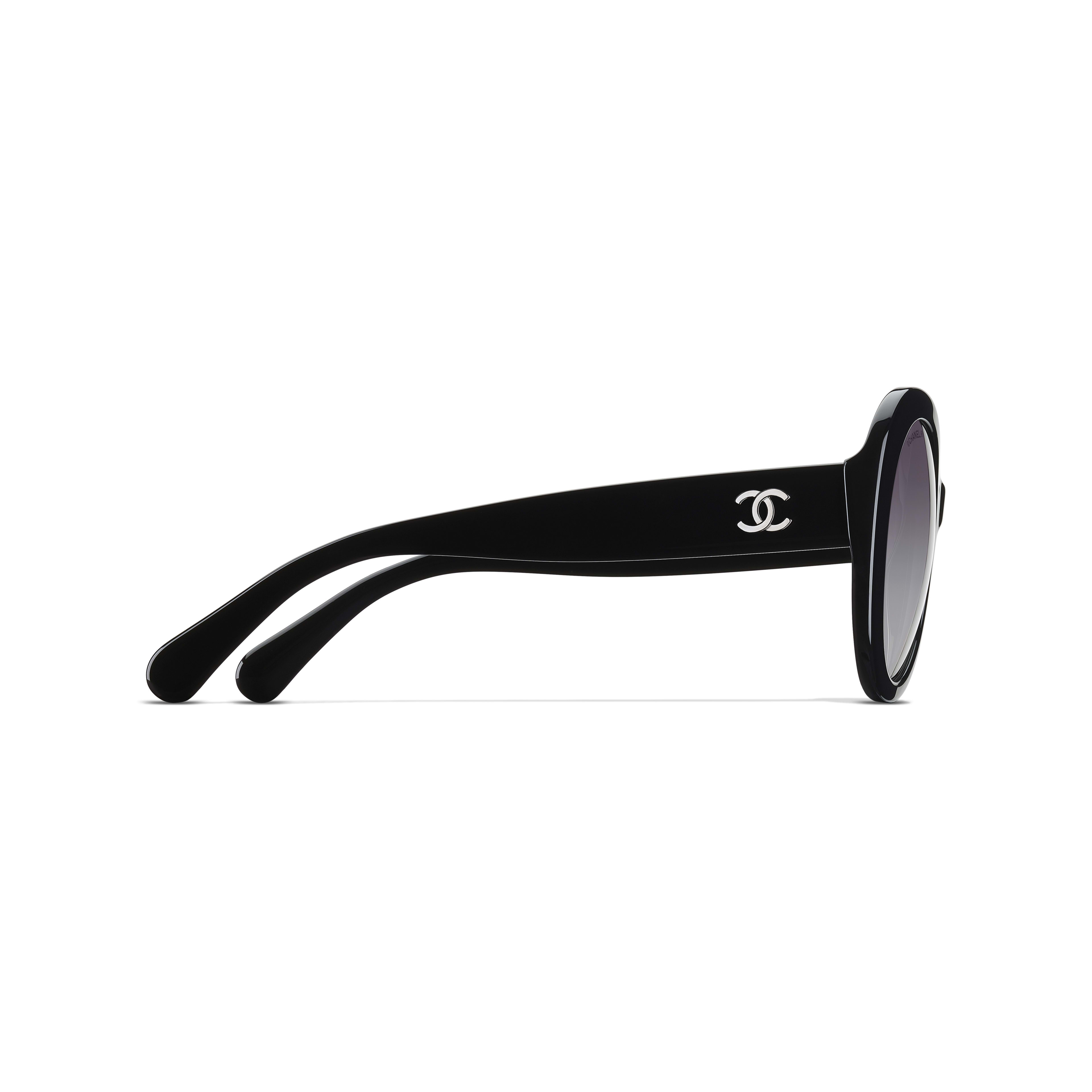 Oval Sunglasses Acetate Black -                                                         view 3 - see full sized version