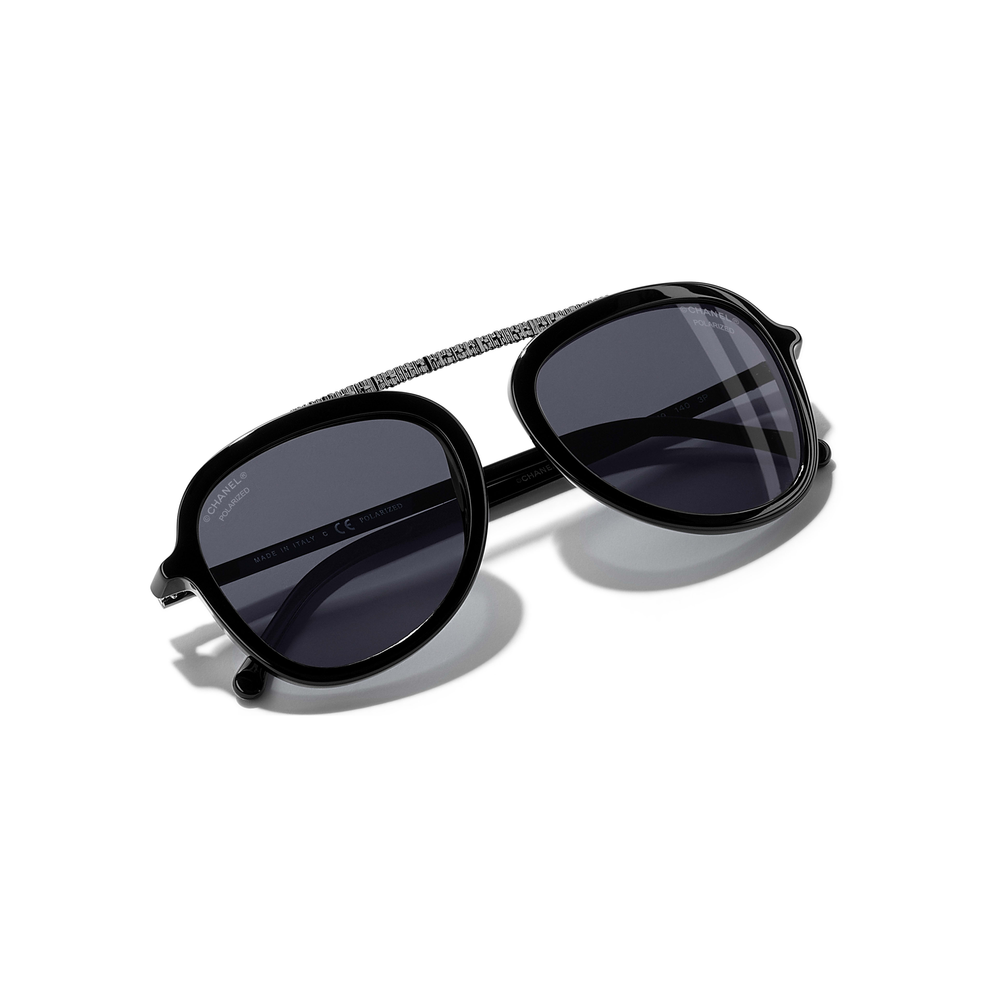 Pilot Sunglasses Acetate - Polarized Lenses Black -                                                               view 1 - see full sized version