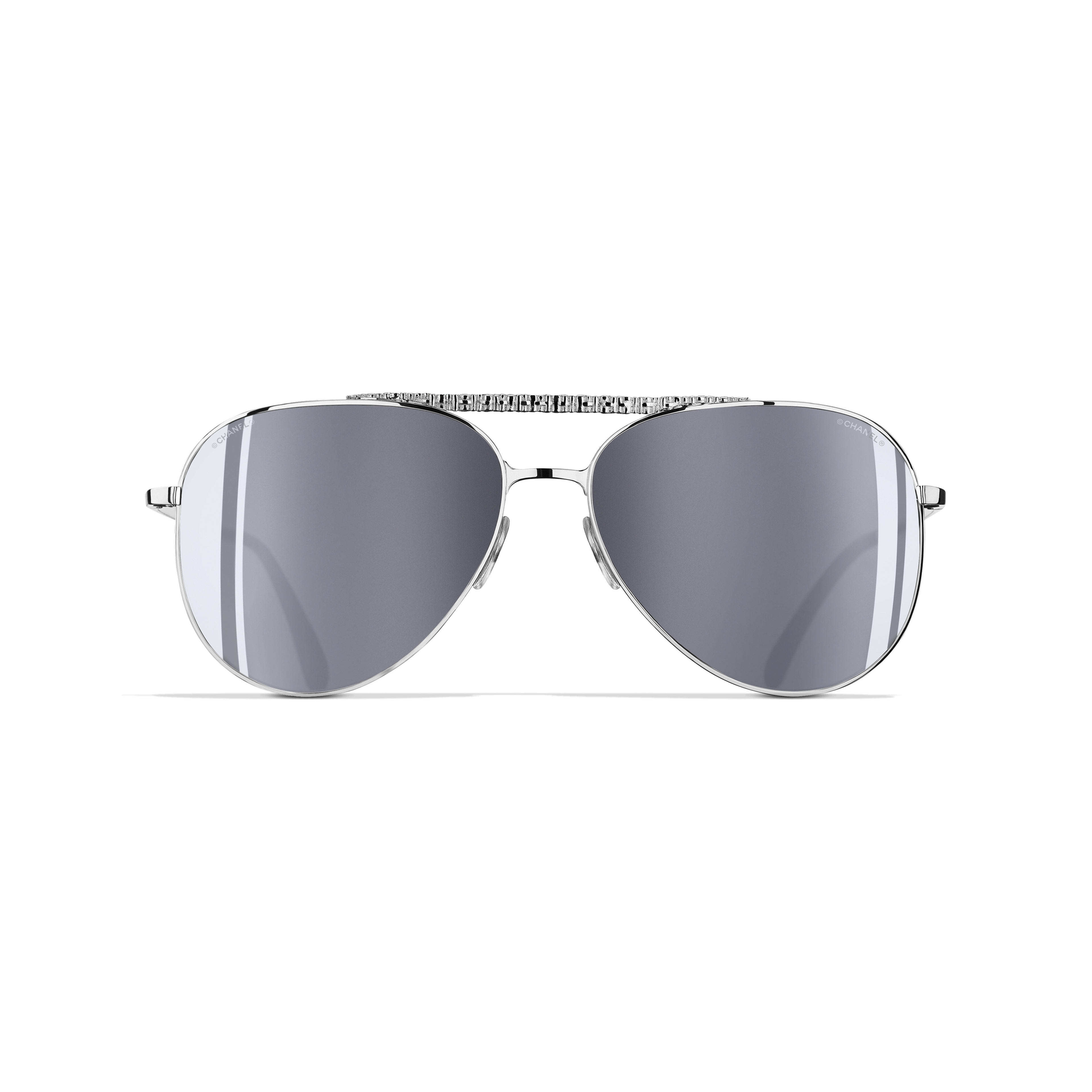Pilot Sunglasses Metal Silver -                                                    view 2 - see full sized version