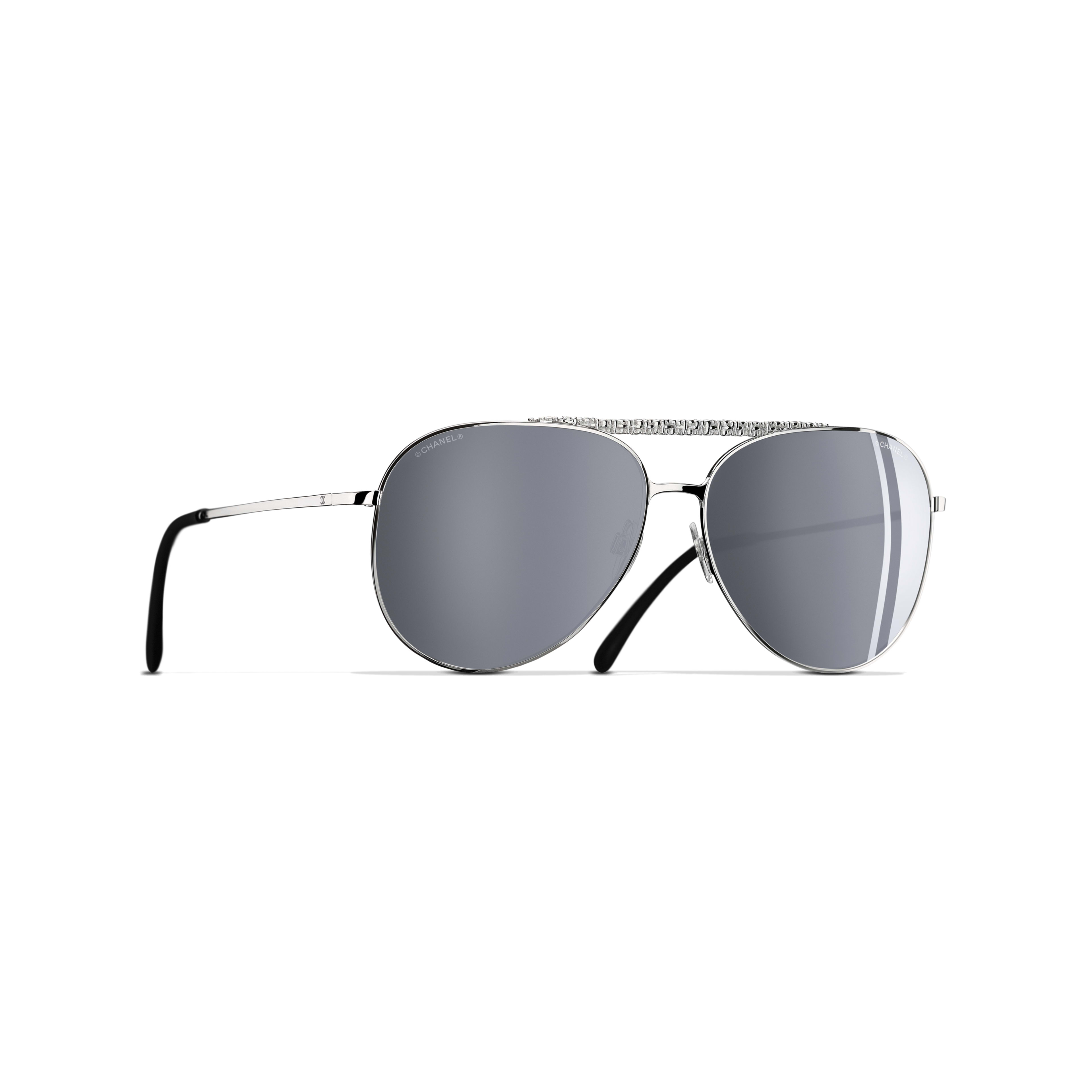 Pilot Sunglasses Metal Silver -                                               view 1 - see full sized version