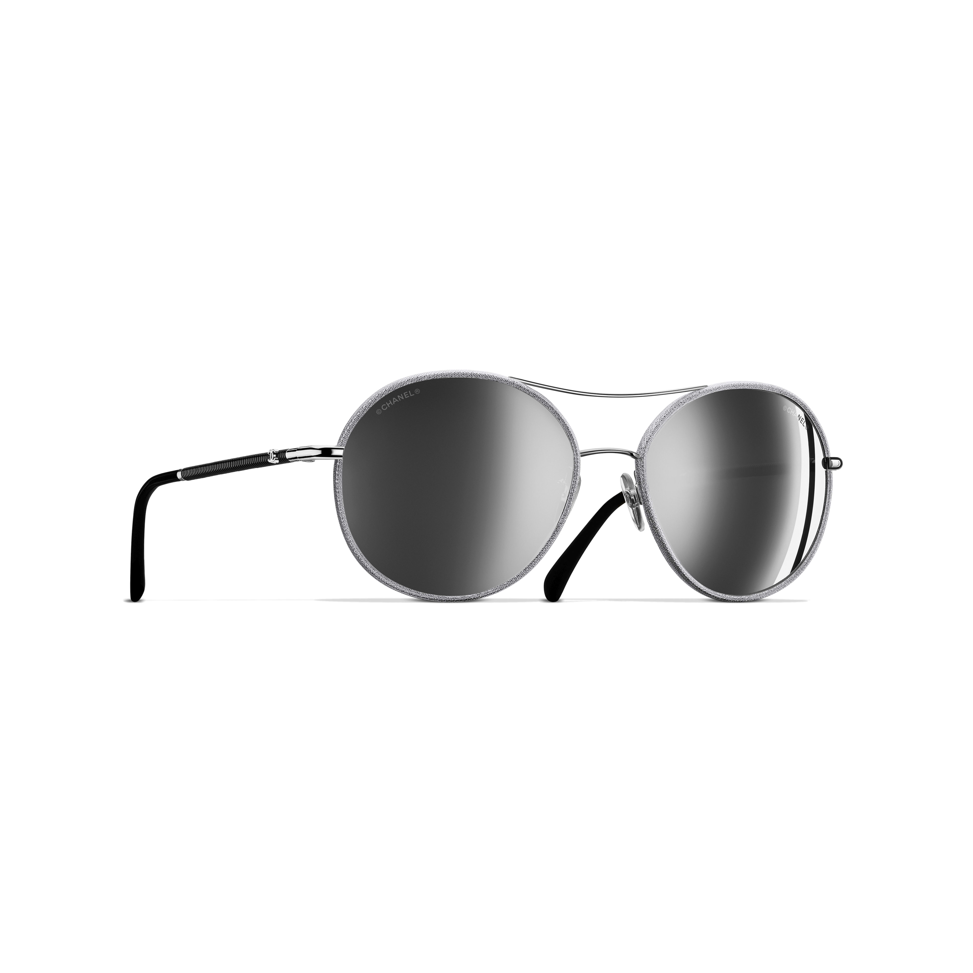 Pilot Sunglasses Metal & Polyester Silver -                                               view 1 - see full sized version