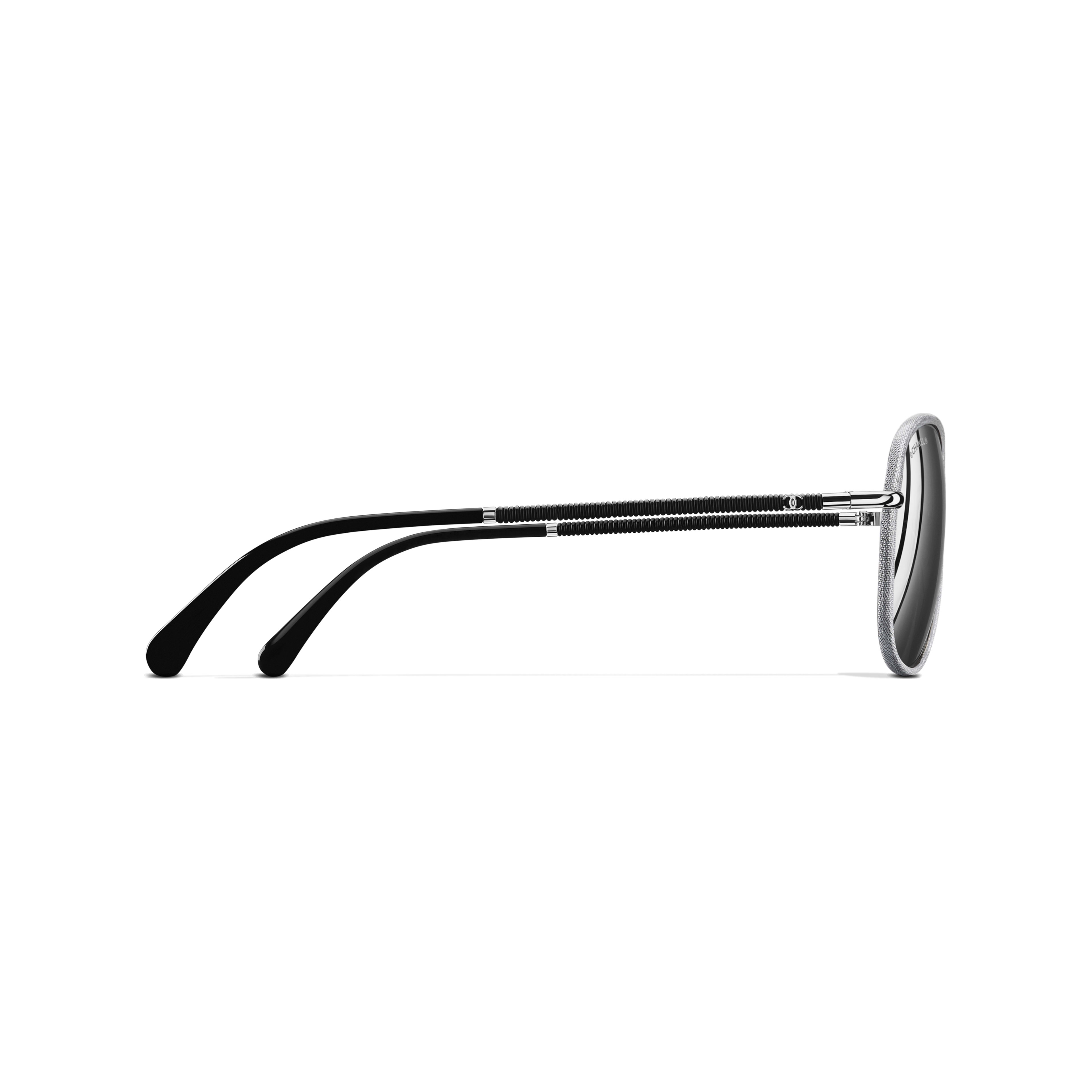 Pilot Sunglasses Metal & Polyester Silver -                                                         view 3 - see full sized version