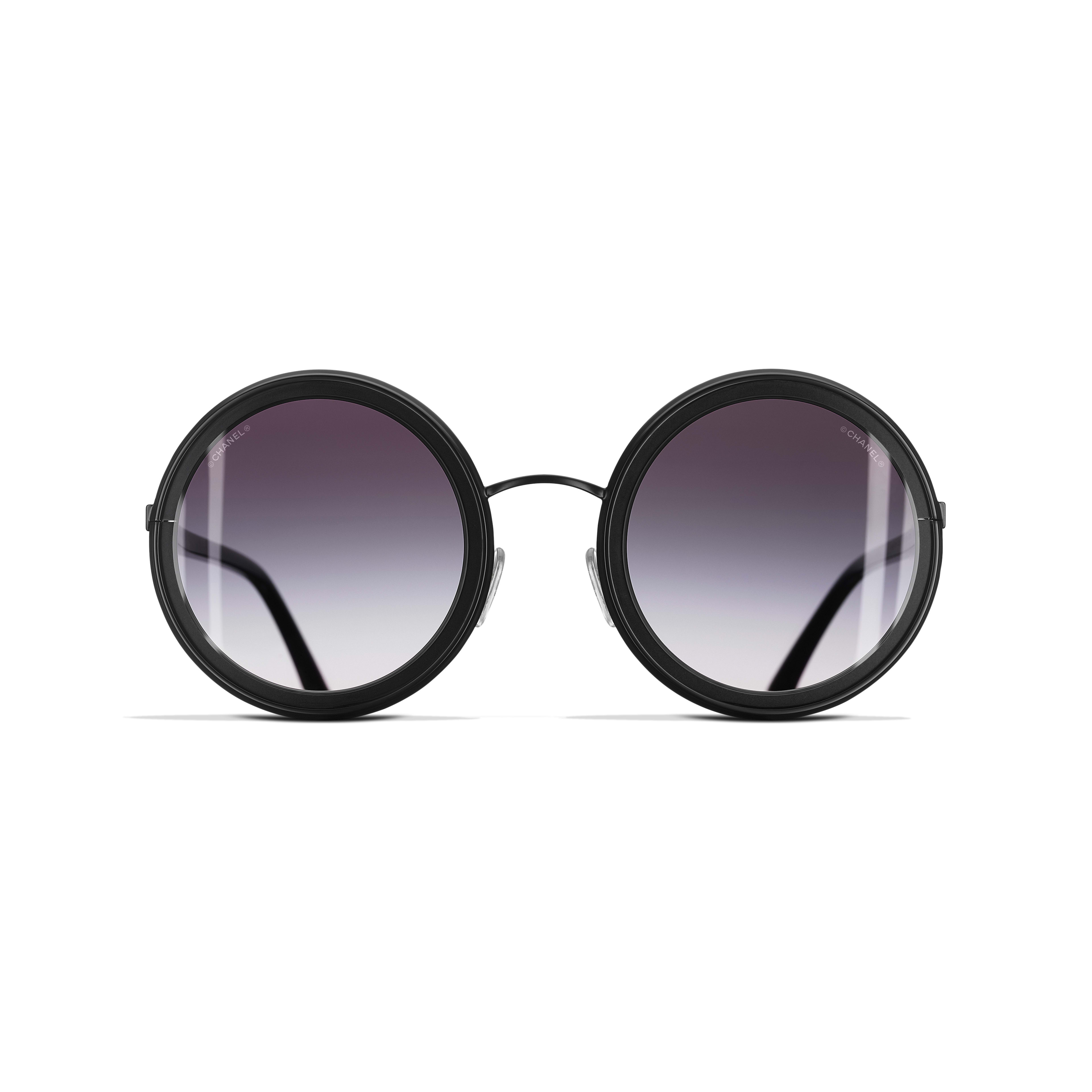 Round Sunglasses Metal Black -                                                    view 2 - see full sized version
