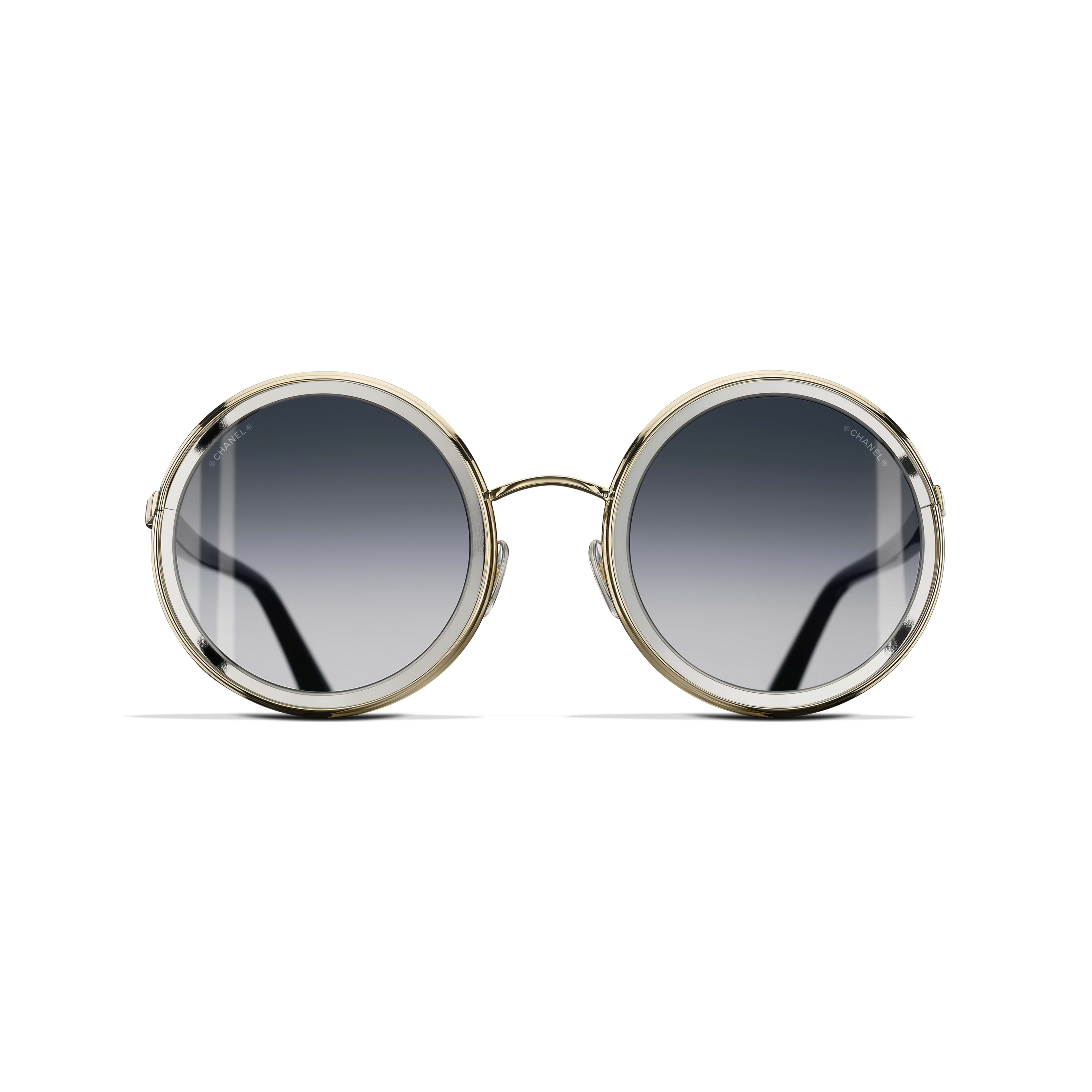 Round Sunglasses Metal Gold -                                                    view 2 - see full sized version