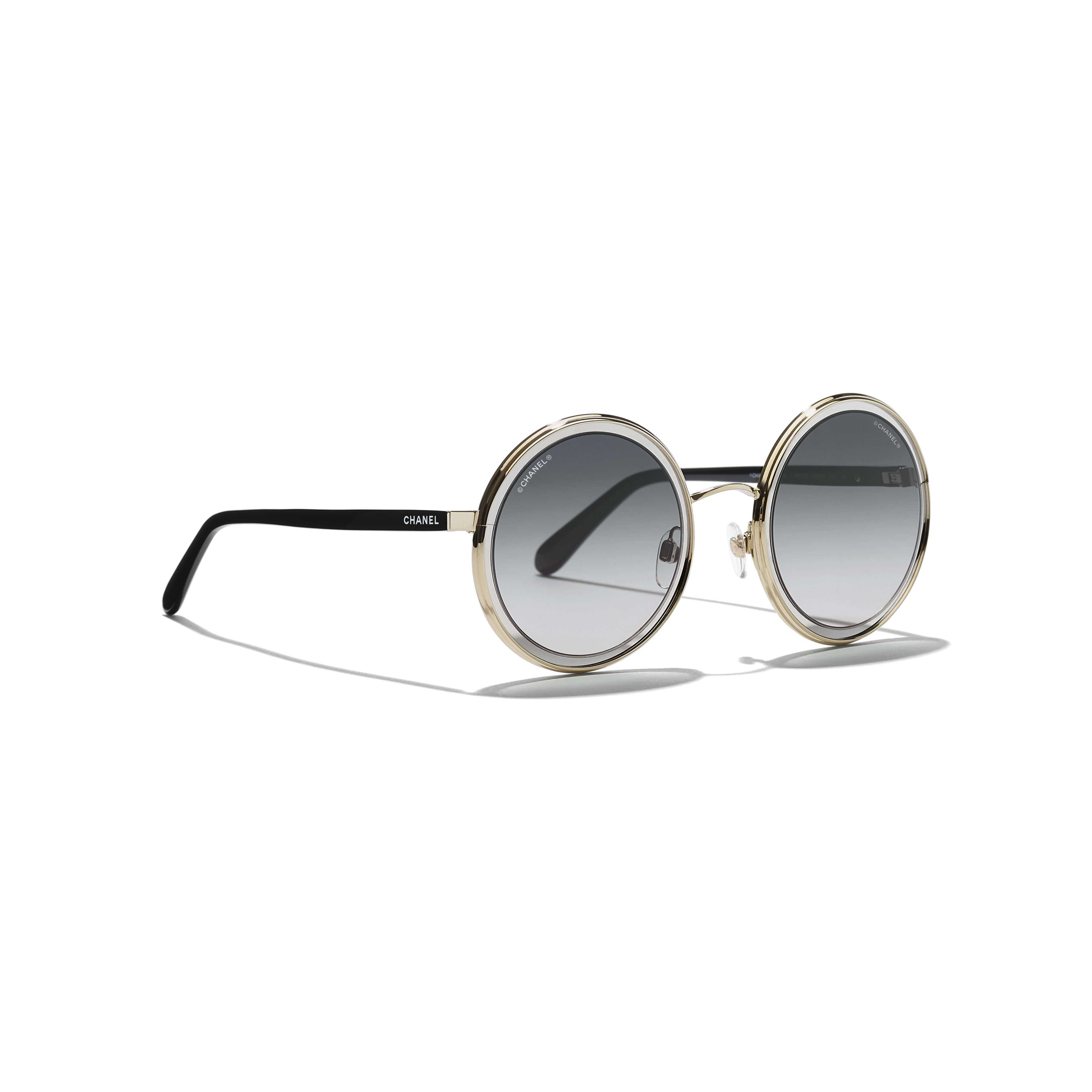 Round Sunglasses Metal Gold -                                                               view 1 - see full sized version