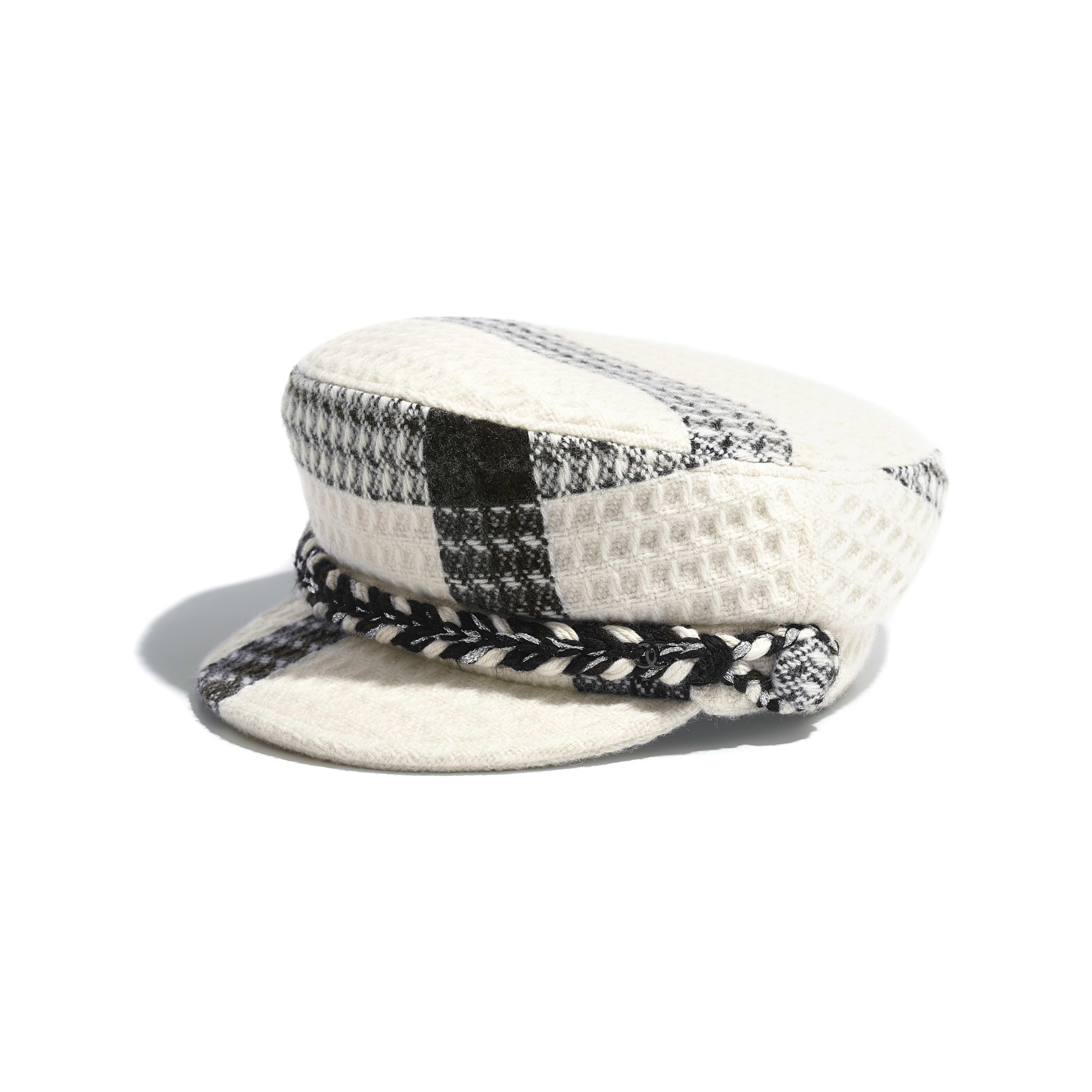 46859da4912000 ... reduced sailor cap wool tweed ecru gray navy blue a4b29 cb50d