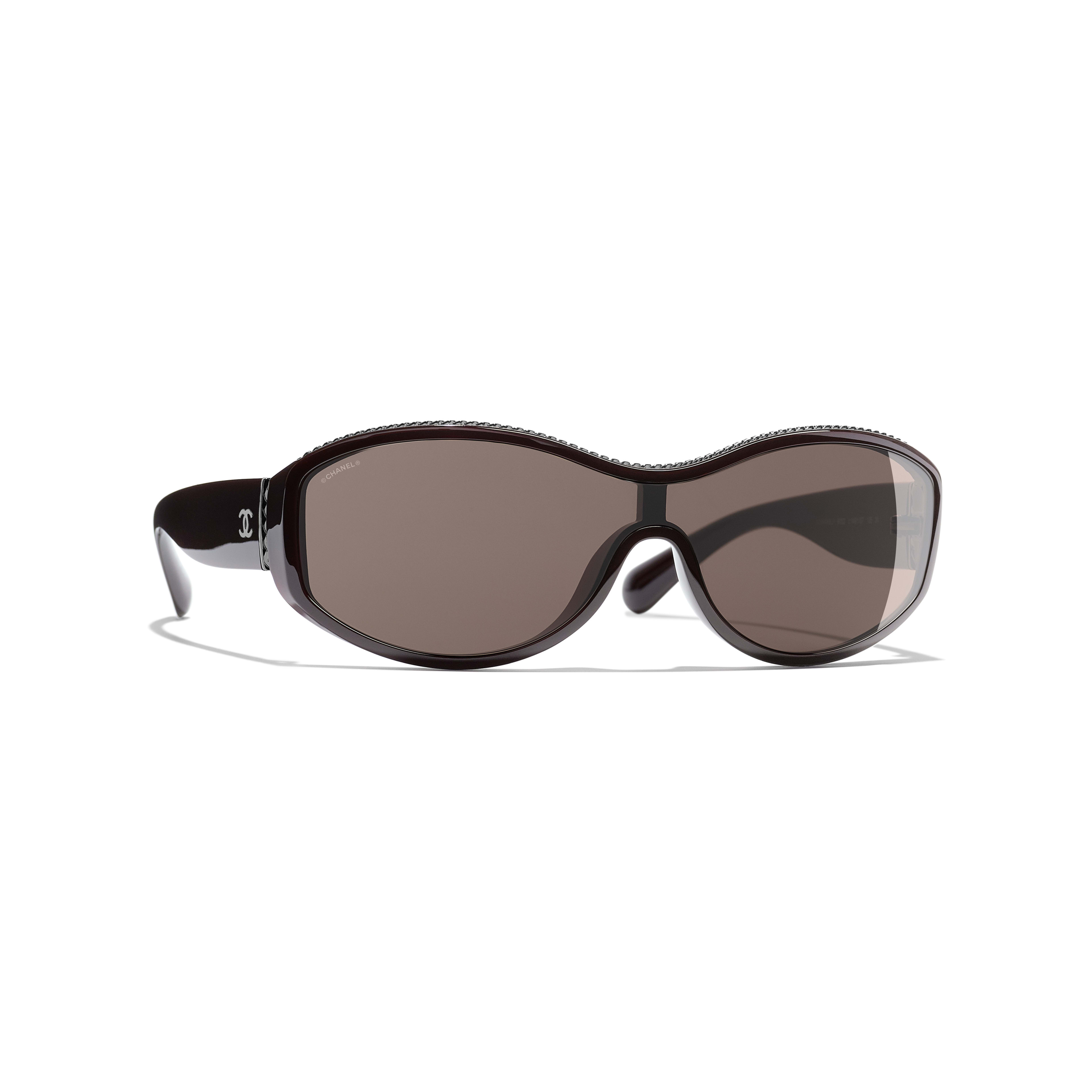 Shield Sunglasses - Burgundy - Nylon & Metal - Default view - see full sized version