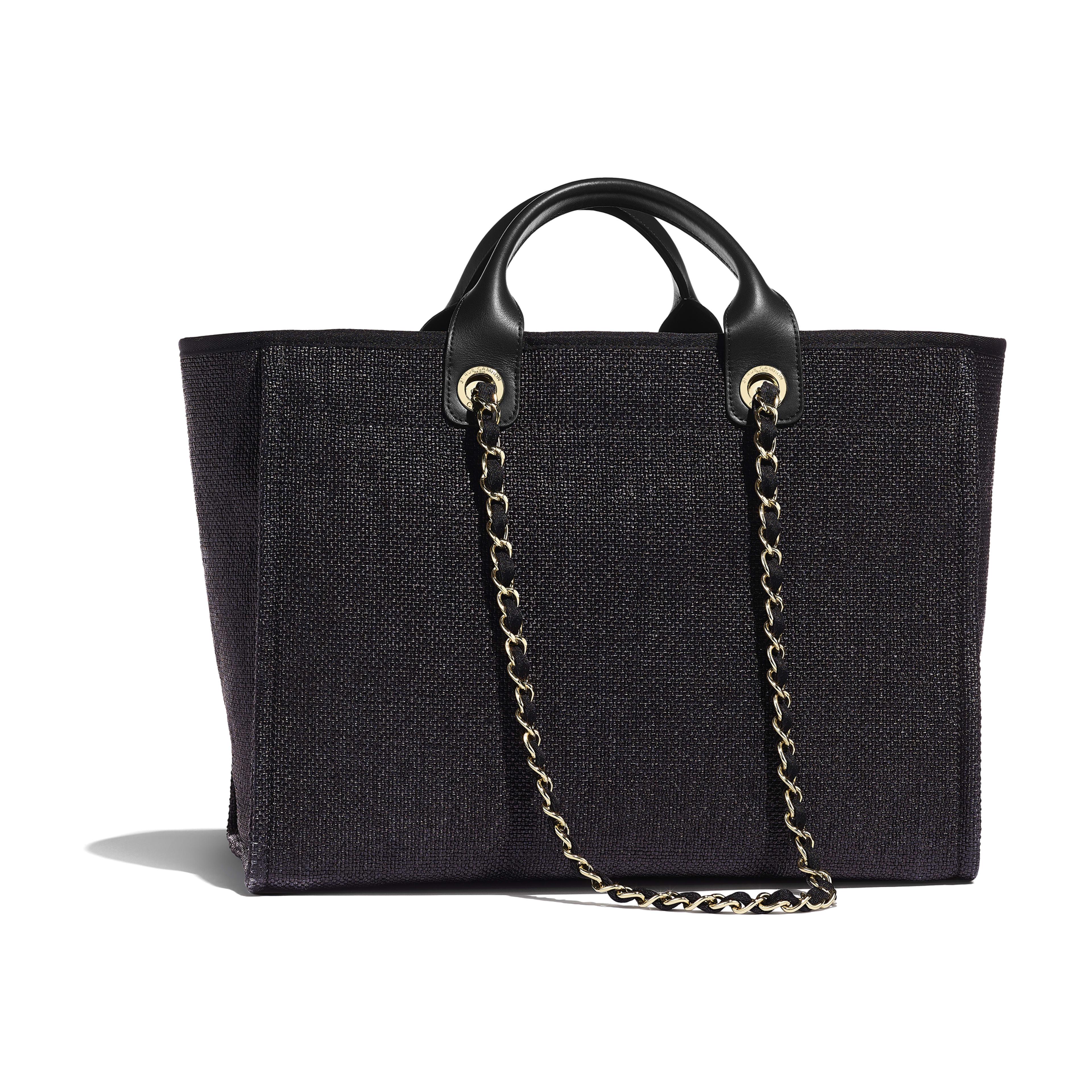 Shopping Bag - Black - Cotton, Nylon, Calfskin & Gold-Tone Metal - Alternative view - see full sized version
