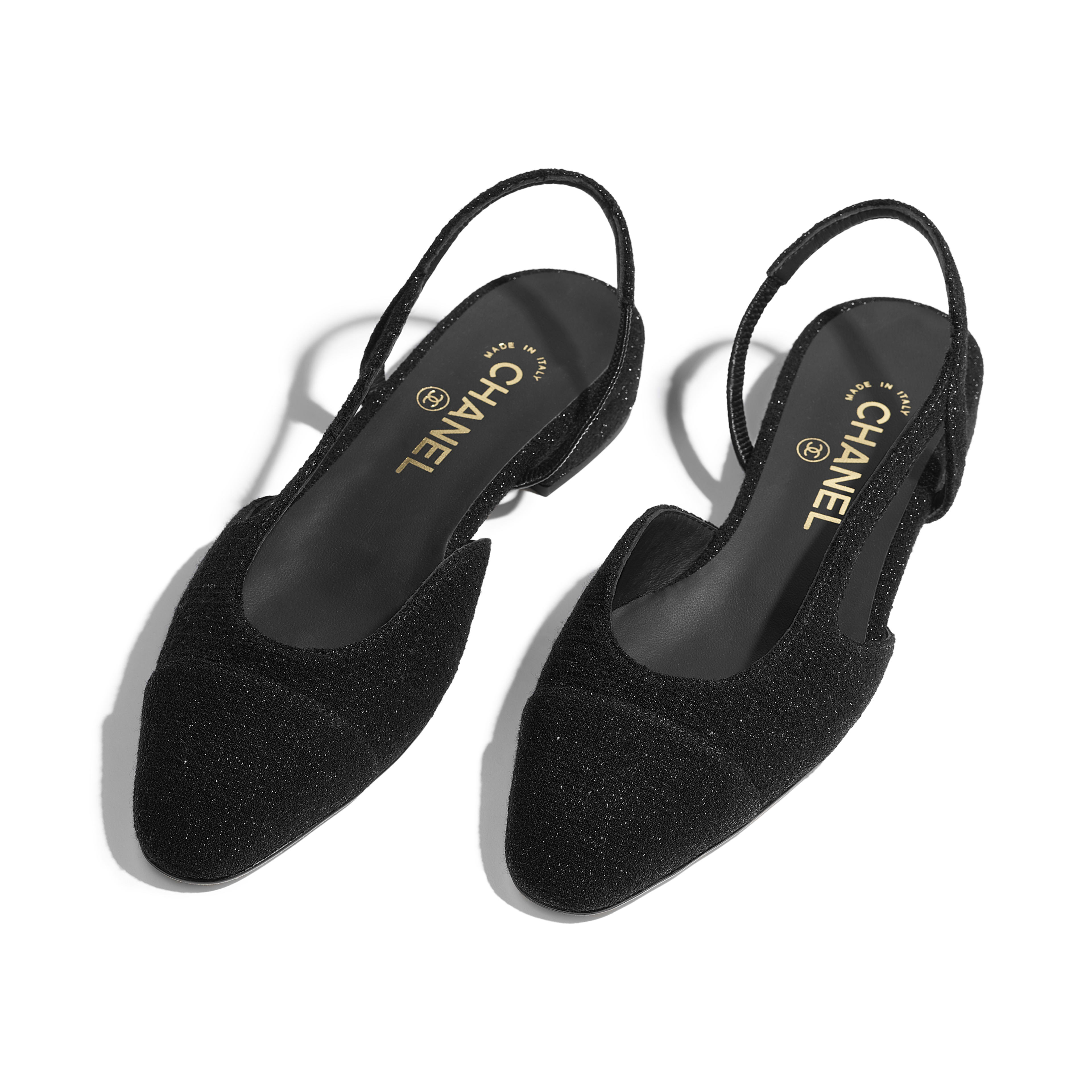 Slingbacks - Black - Tweed - Other view - see full sized version