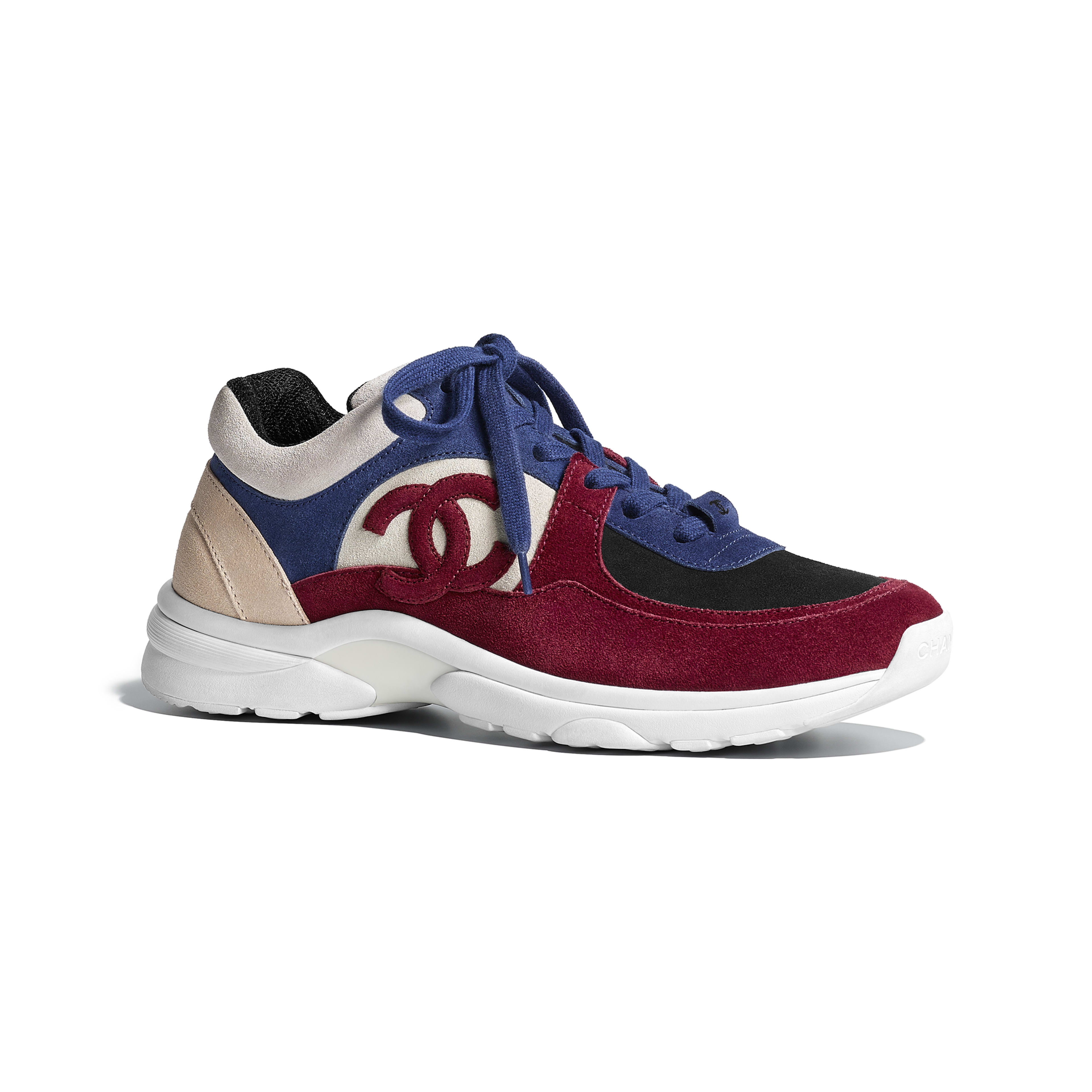 Sneakers - Navy Blue & Red - Suede Calfskin - Default view - see full sized version