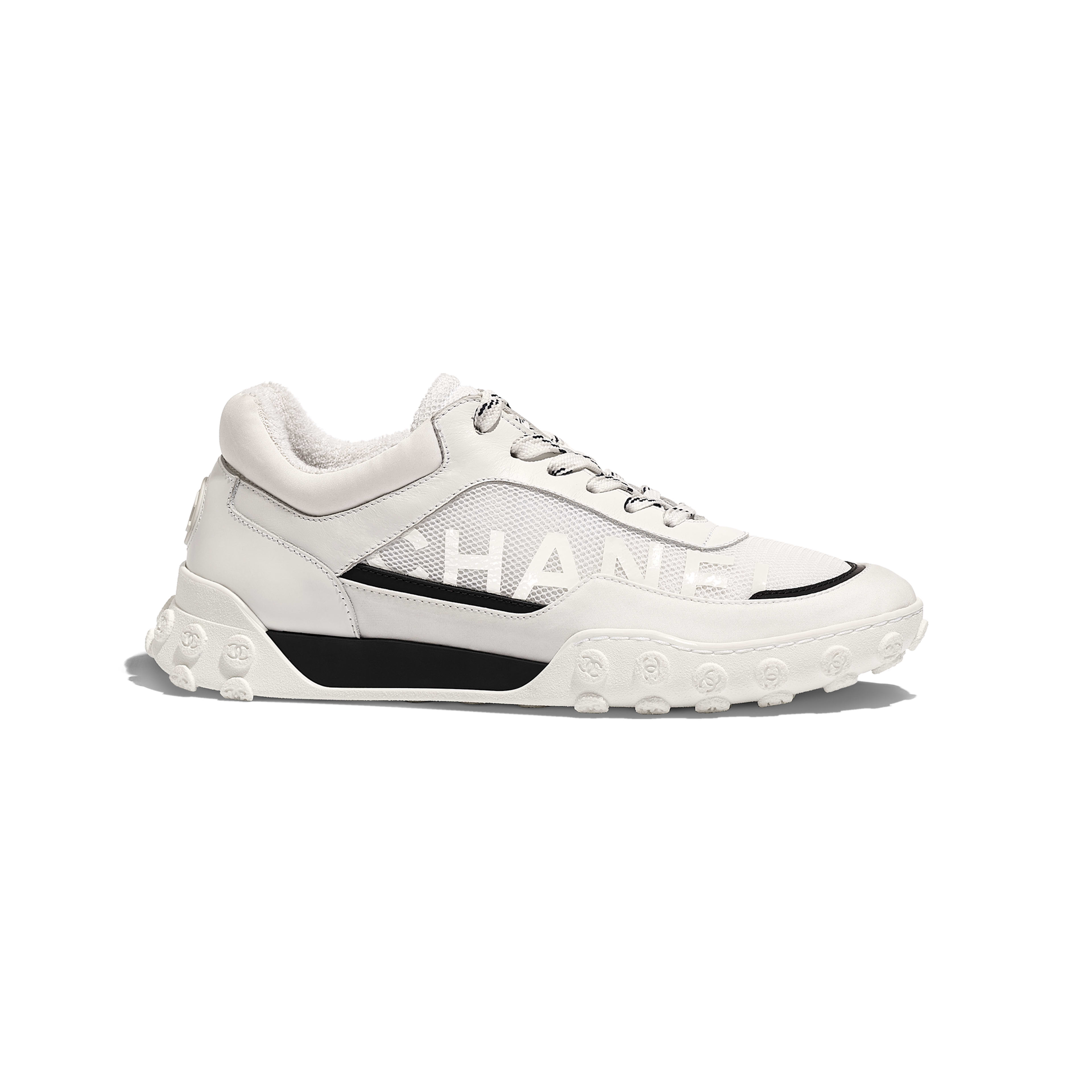 Sneakers - White - Calfskin, Mesh & Lycra - Default view - see full sized version