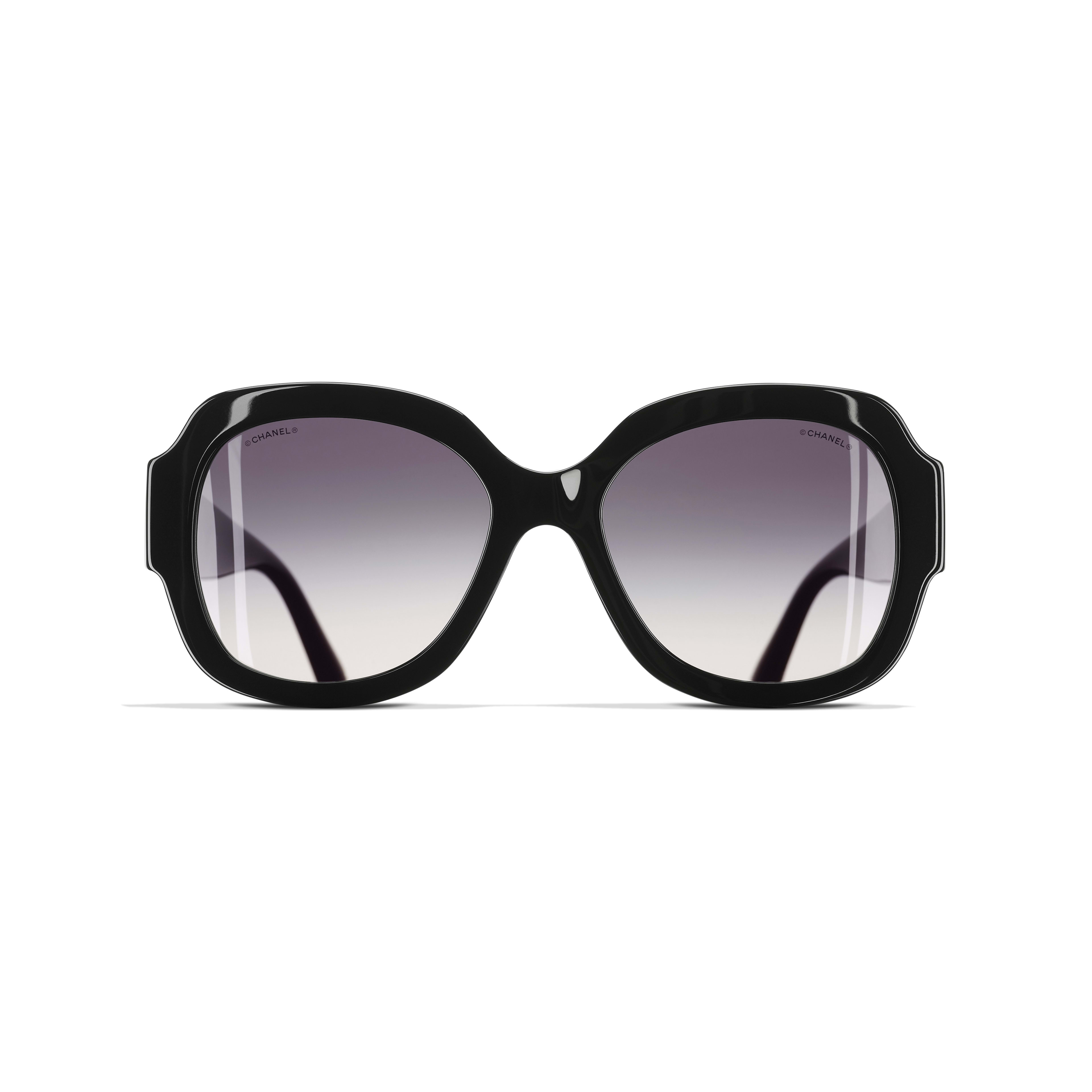 Square Sunglasses Acetate Black -                                                    view 2 - see full sized version