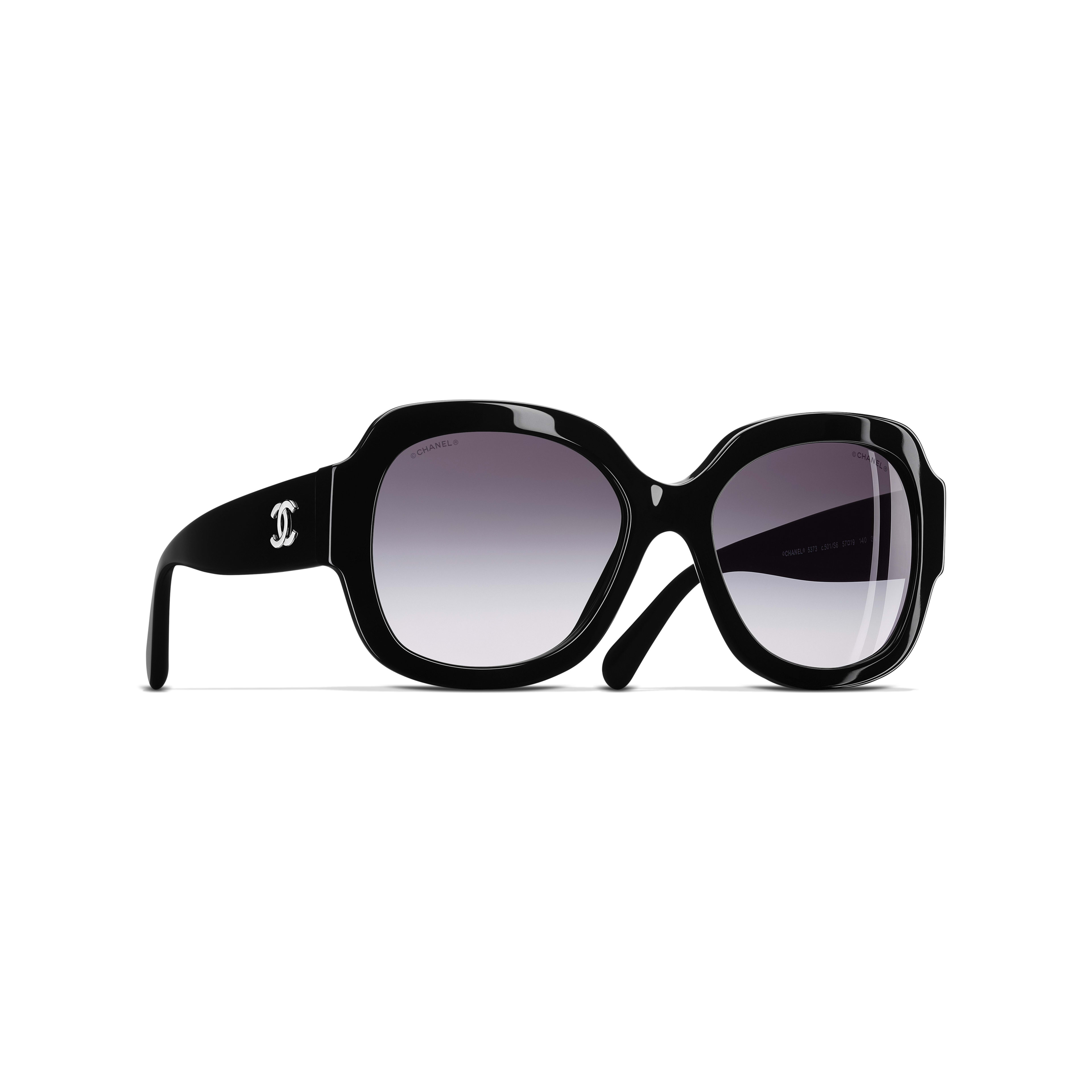 Square Sunglasses Acetate Black -                                               view 1 - see full sized version