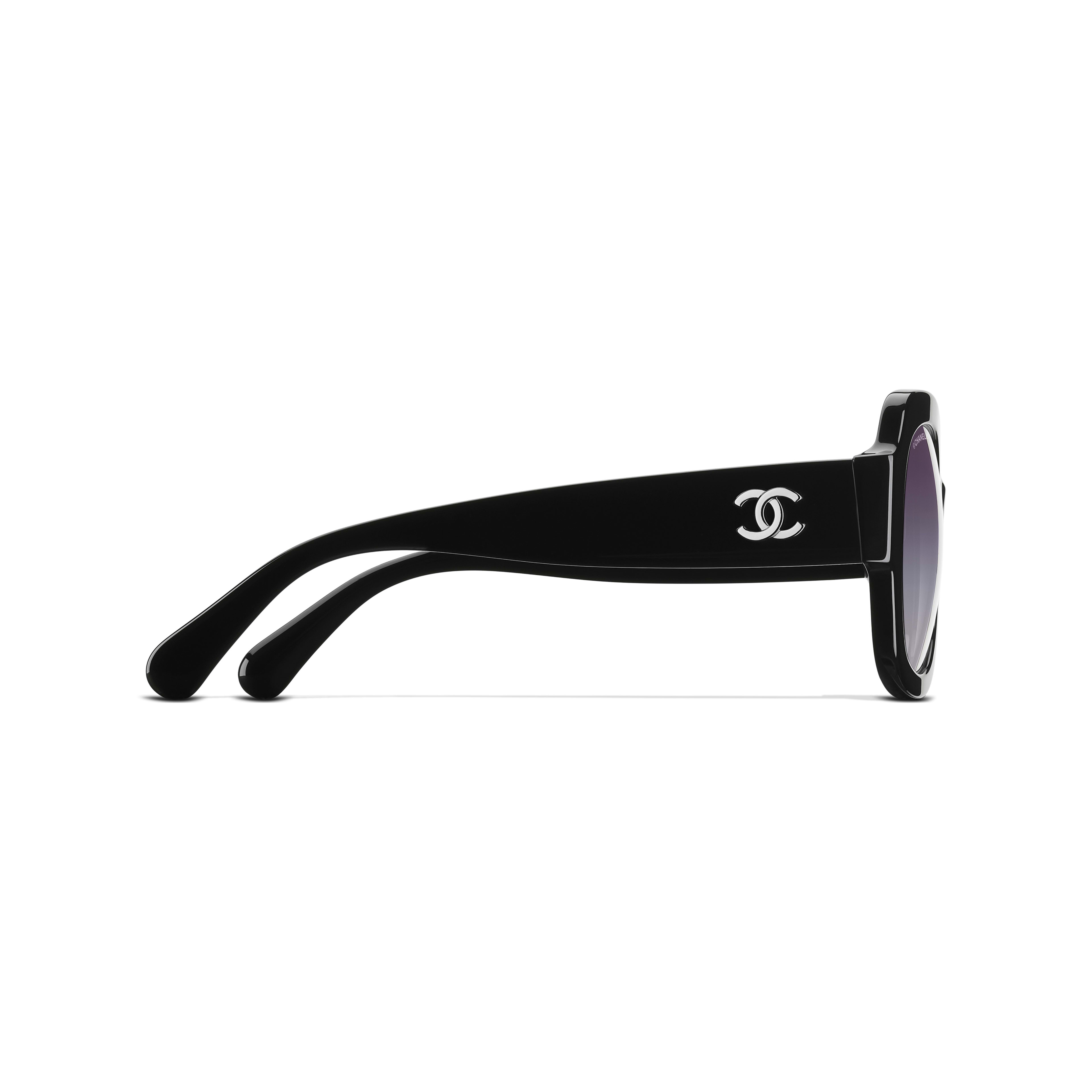 Square Sunglasses Acetate Black -                                                         view 3 - see full sized version