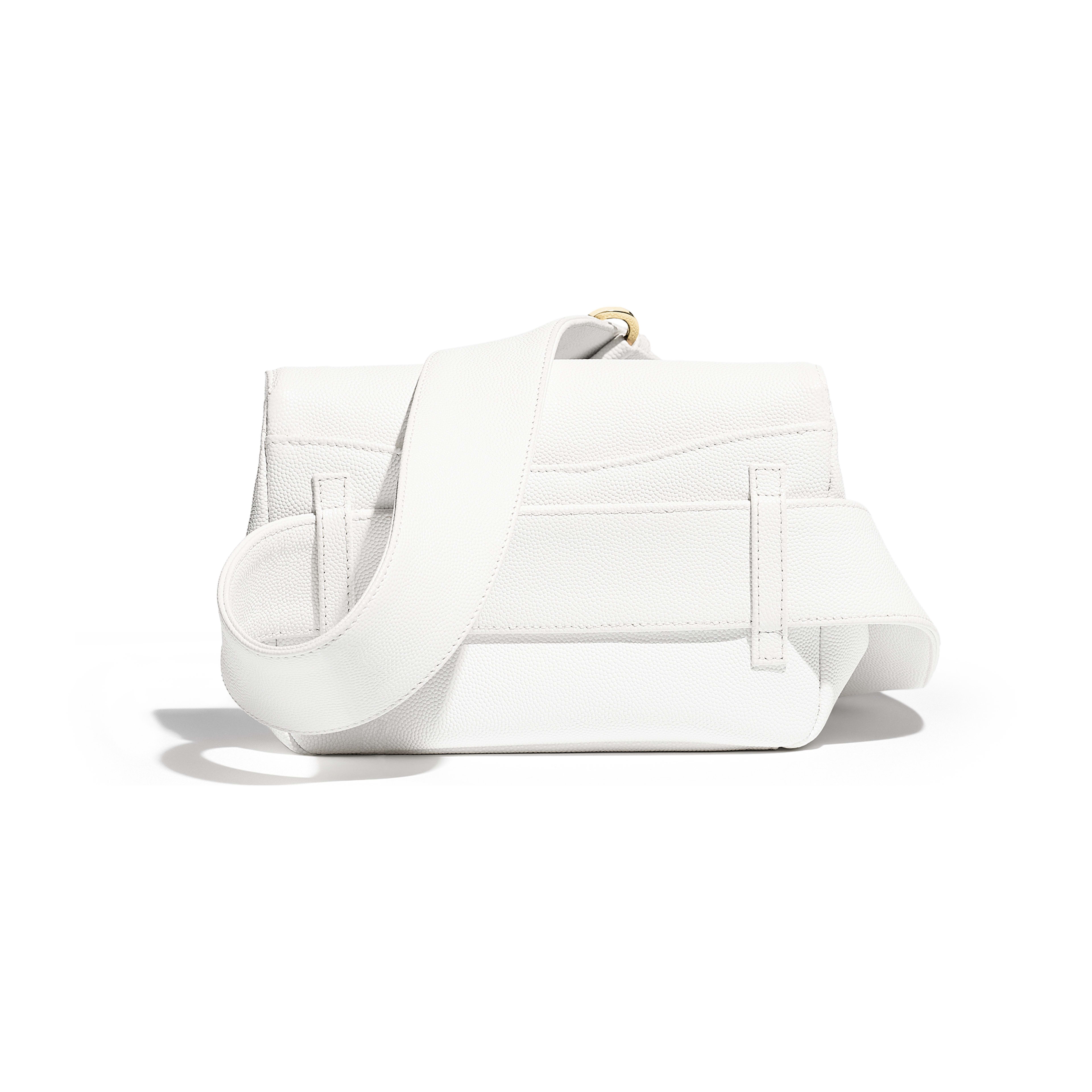 Waist Bag - White - Embroidered Grained Calfskin & Gold-Tone Metal - Alternative view - see full sized version
