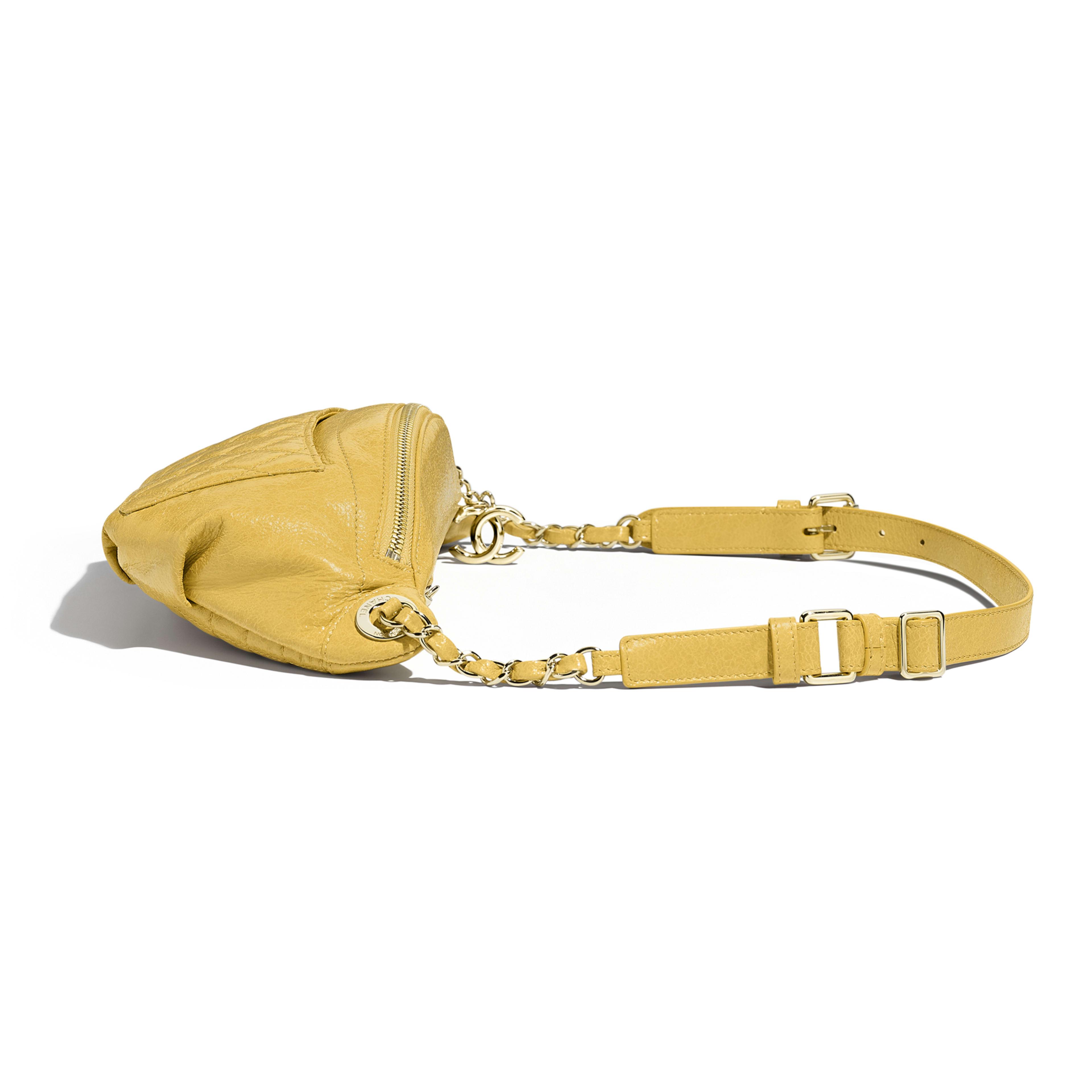 Waist Bag Crumpled Lambskin & Gold-Tone Metal Yellow -                                            view 3 - see full sized version