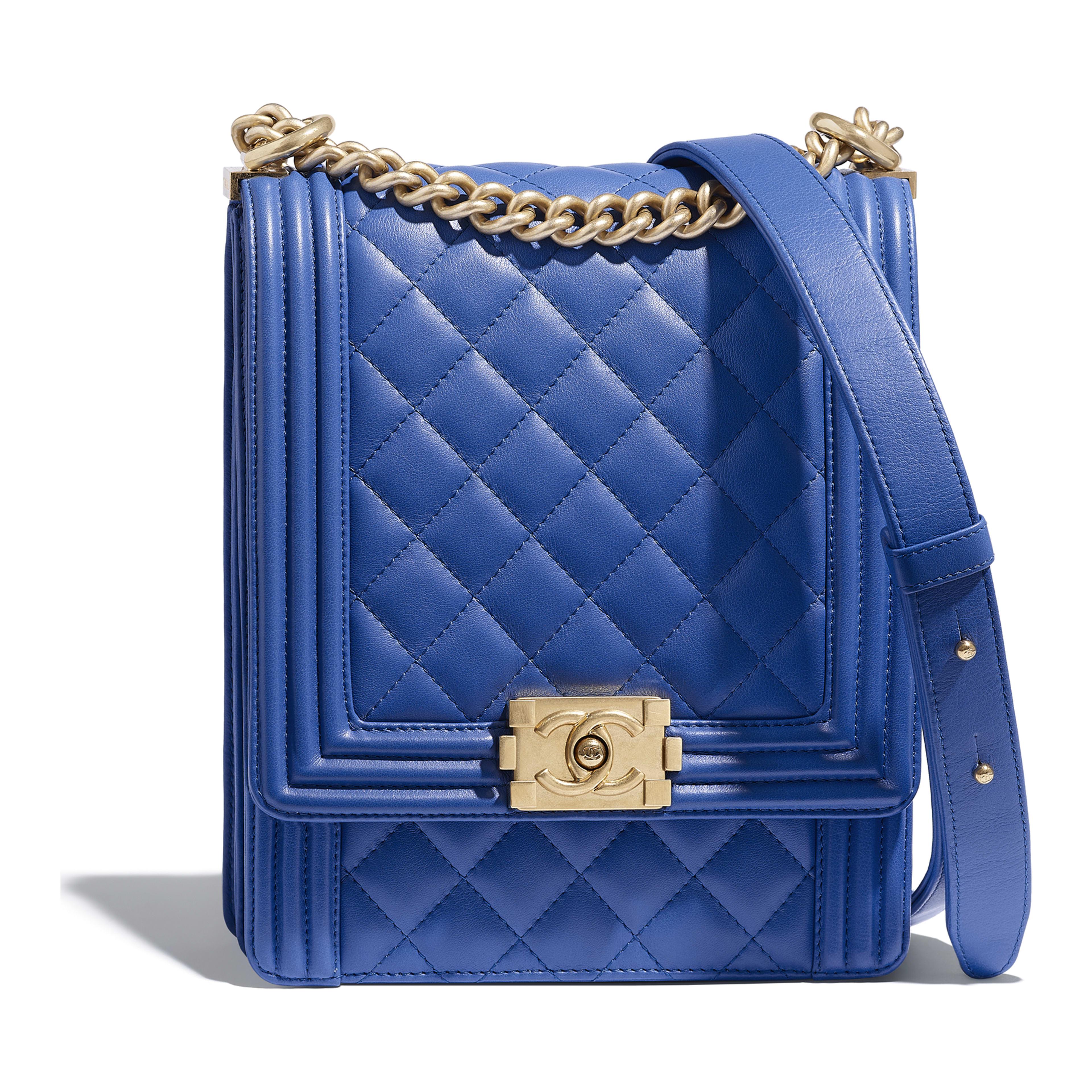 Boy Chanel Handbag Calfskin Gold Tone Metal