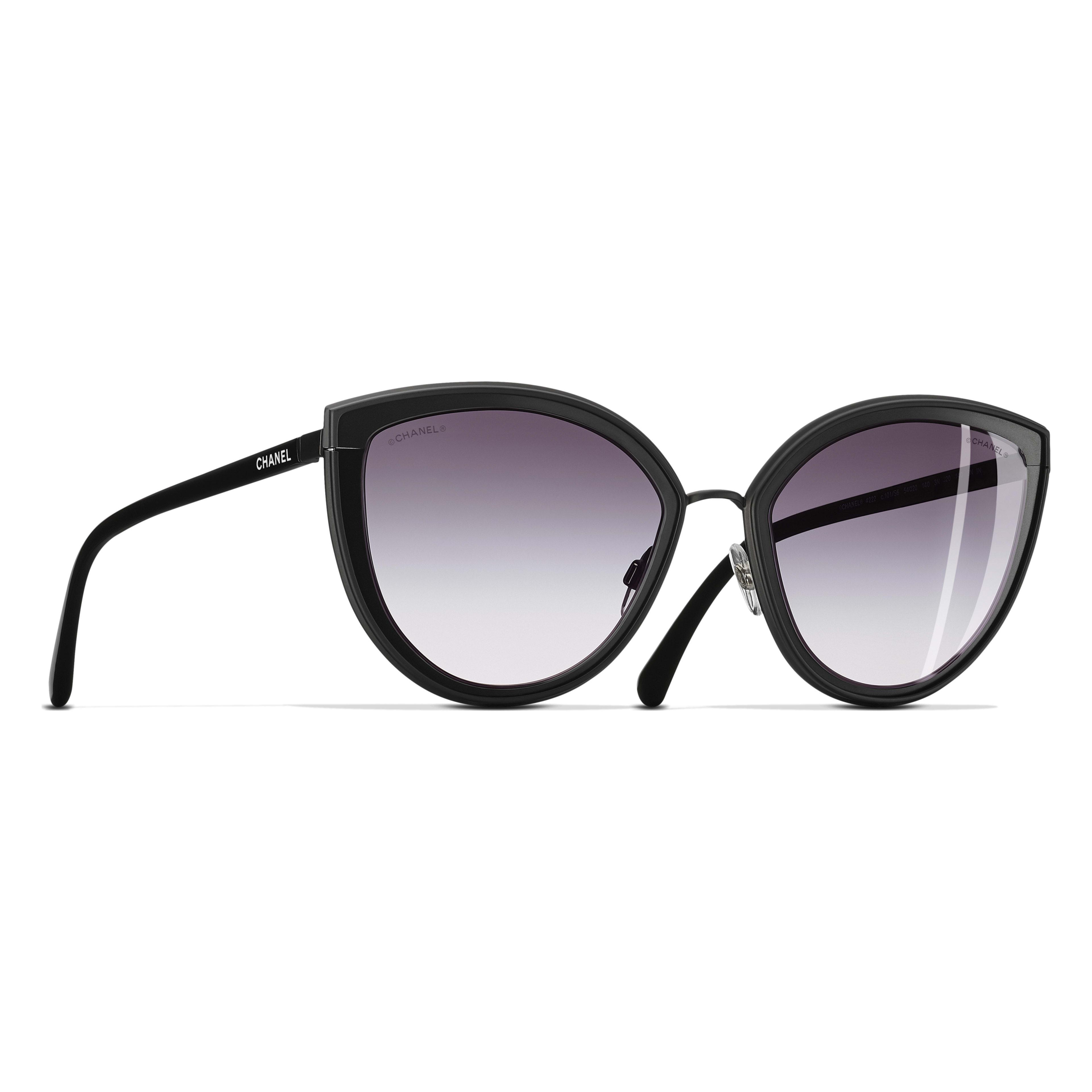 Cat Eye Sunglasses Black eyewear | CHANEL