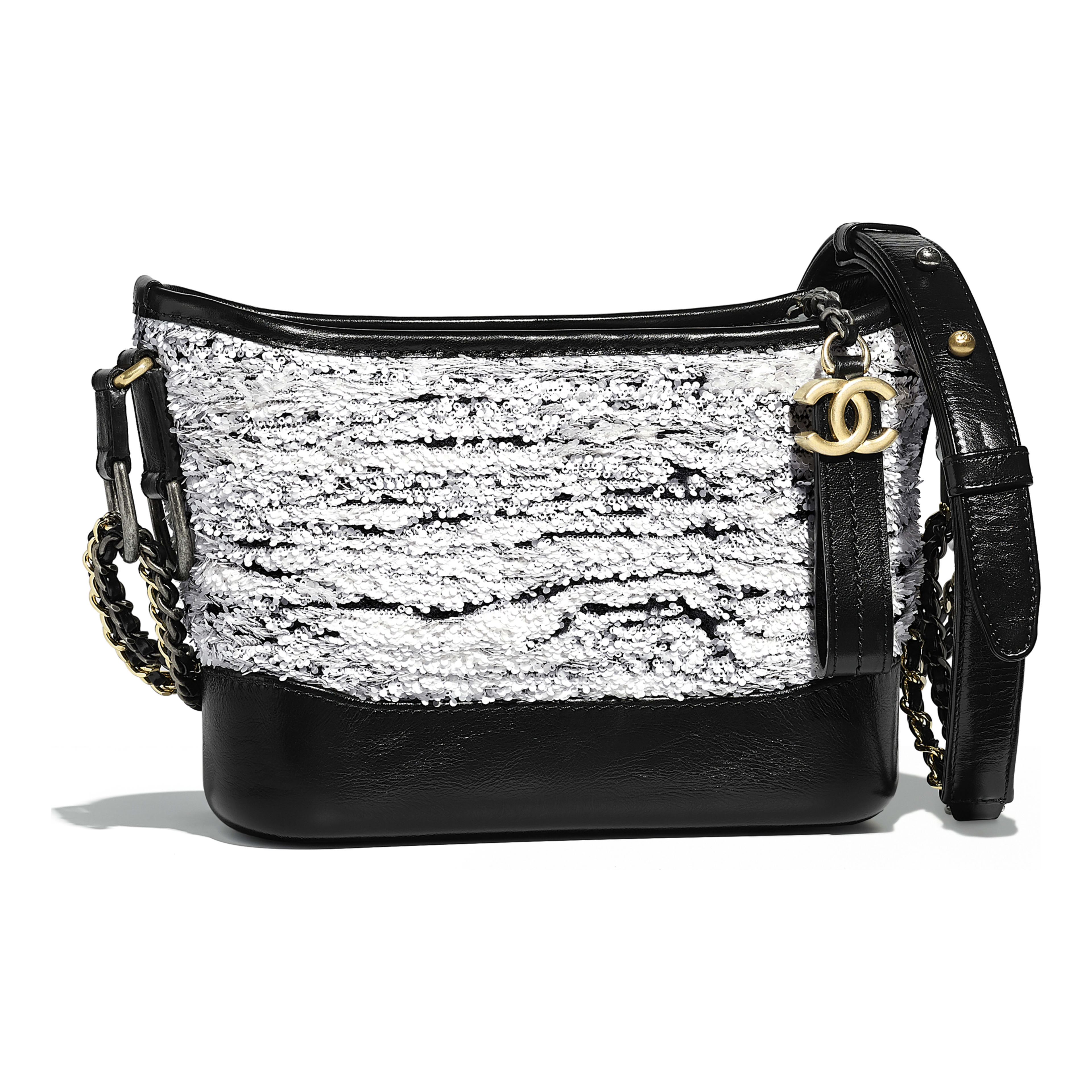 CHANEL S GABRIELLE Small Hobo Bag Sequins, Wool, Calfskin, Silver-Tone    Gold-Tone Metal 56ea3bfe18