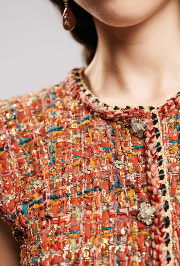 image 4 - Dress - Iridescent Tweed - Red, Blue, Green & Gold