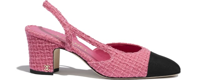Slingbacks, tweed \u0026 grosgrain, pink