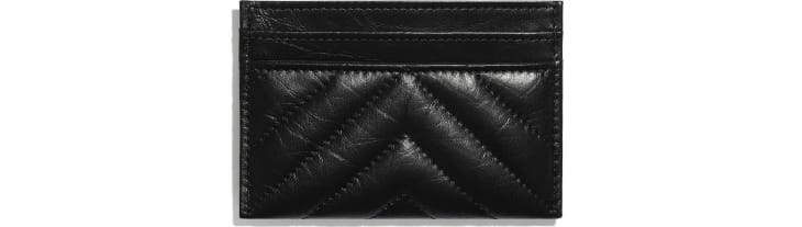 image 2 - 2.55 Card Holder - Aged Calfskin & Black Metal - Black